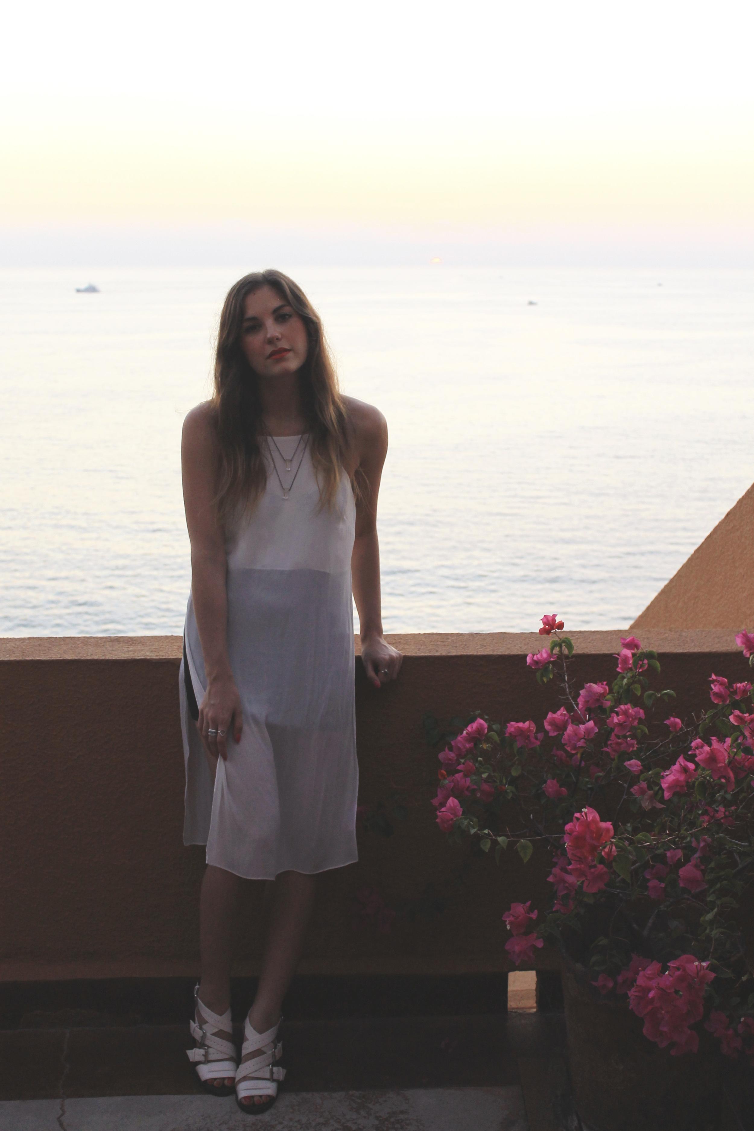 zara white midi slit tank white block buckled strappy heels h&m outfit style