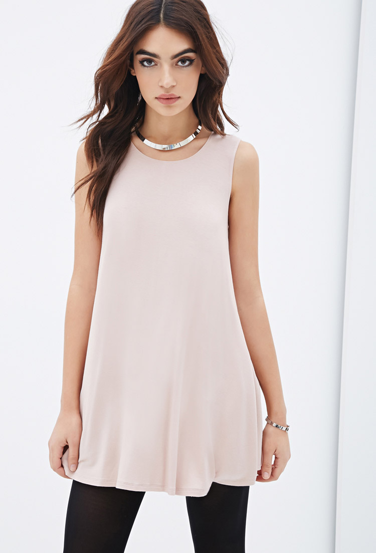 jersey trapeze forever 21 dress