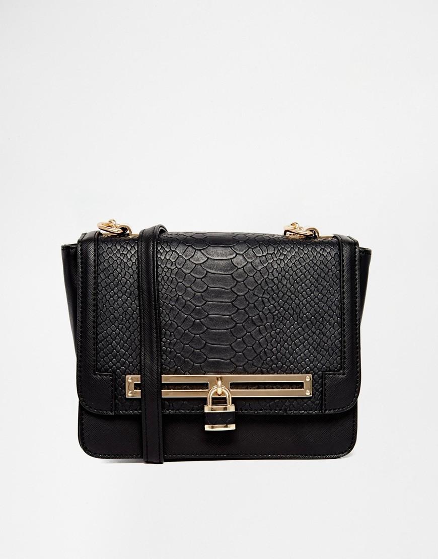 New Look Nina Bag with Chain Strap black asos
