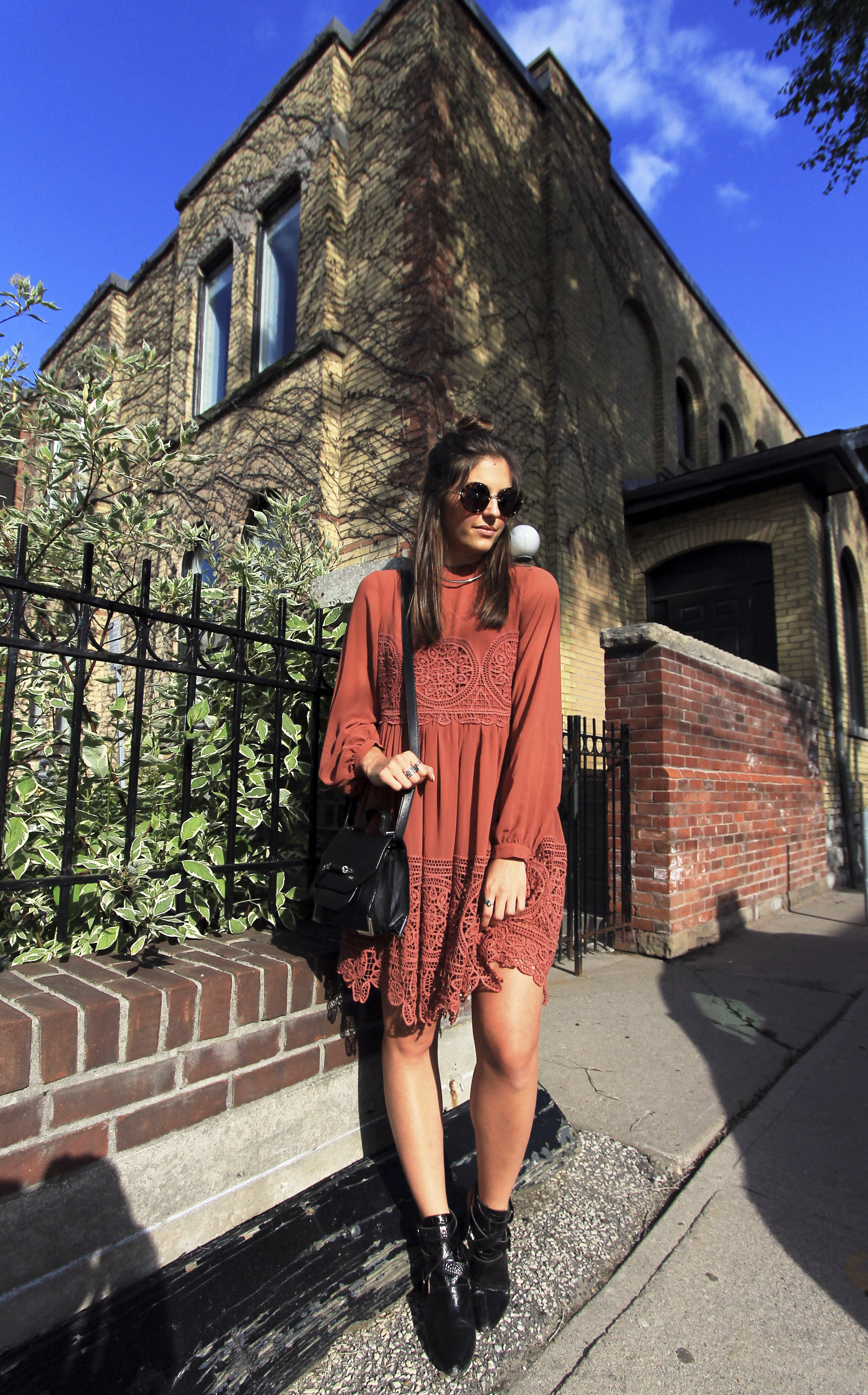 asos babydoll rust lace mini dress outfit.jpg