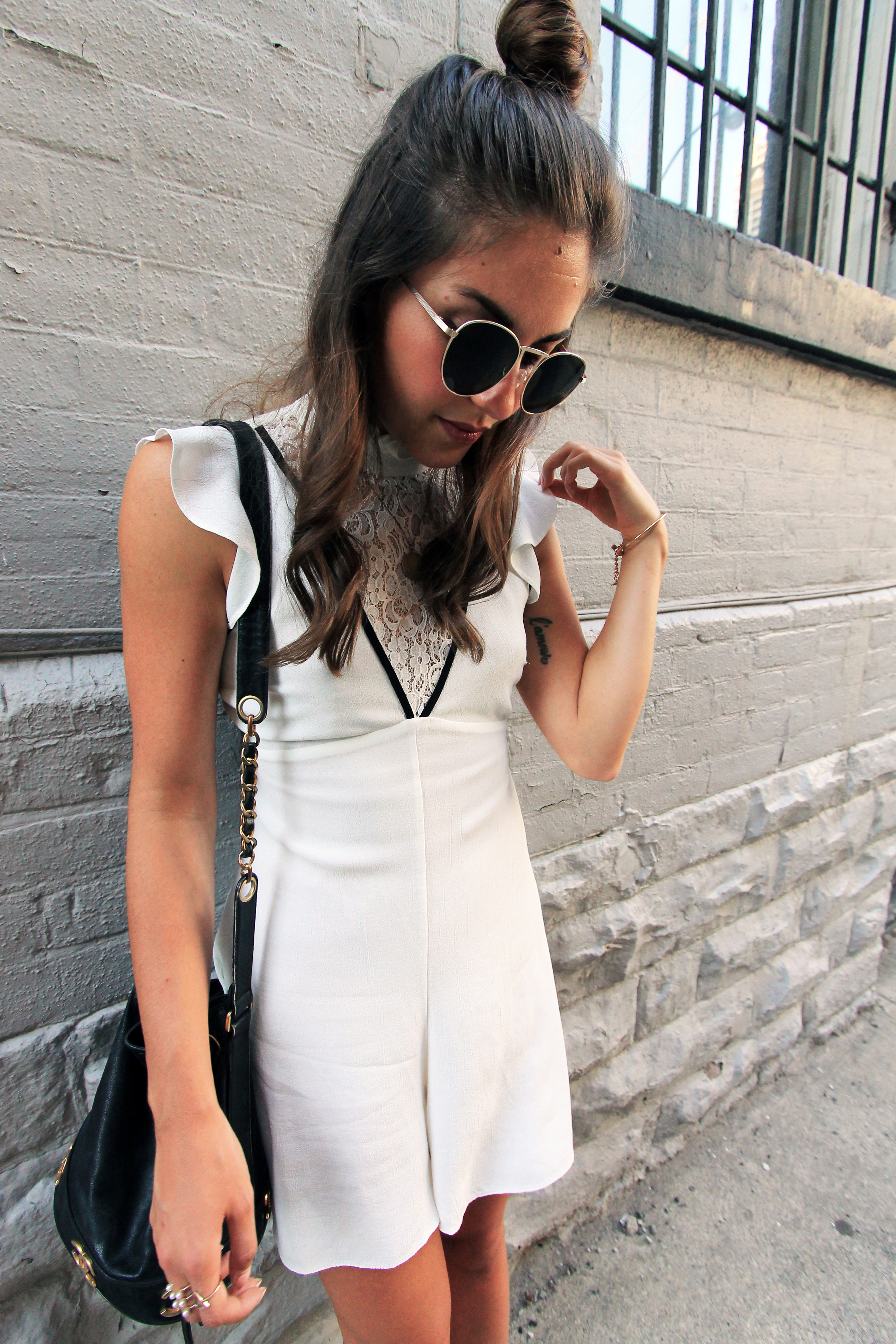 Forever 21 wire rim gold metal sunglasses outfit accessories.jpg