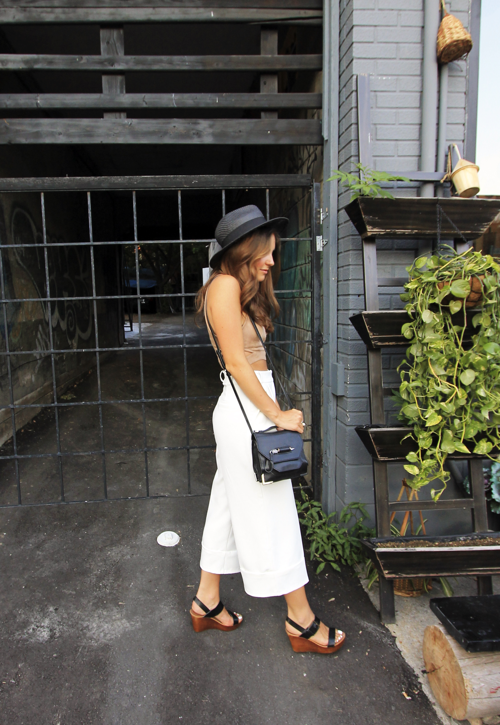 black straw hat mackage rubie bag zara outfit.jpg