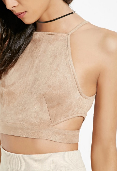 Cropped Faux Suede Cami Tan.jpg