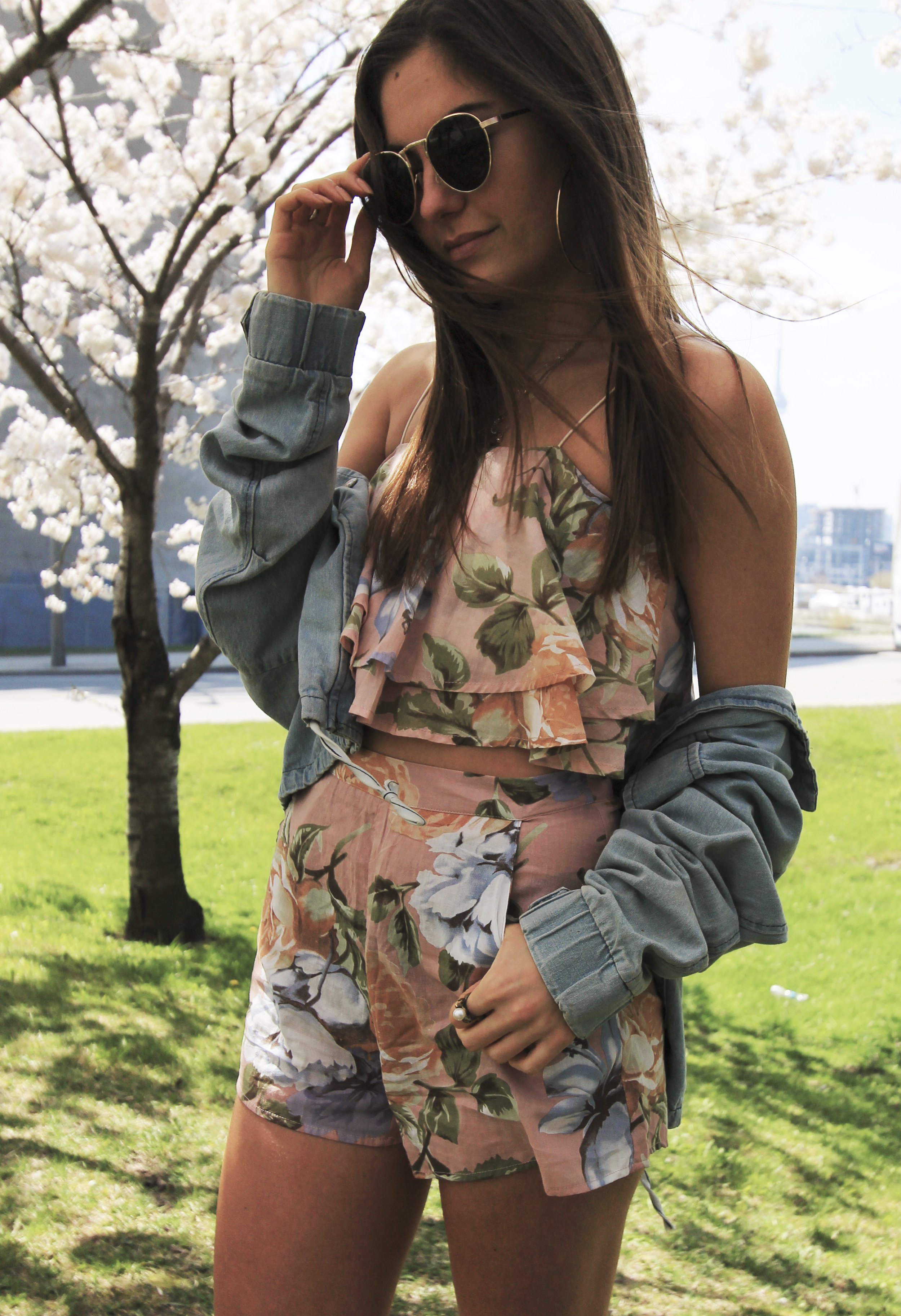 floral outfit style toronto fashion blogger denim jacket.jpg