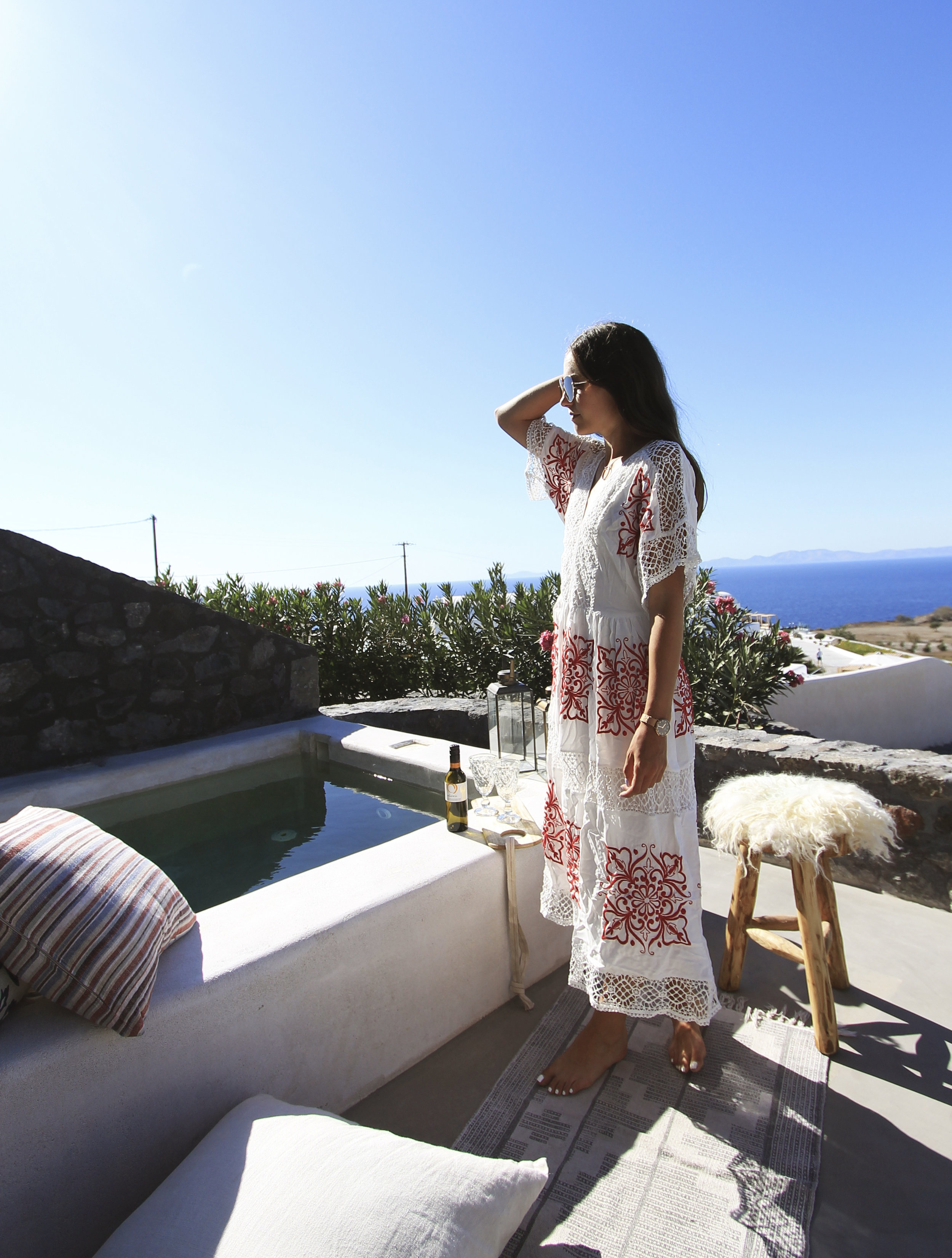 midi lace outfit vacation dress santorini asos style blogger fashion.jpg