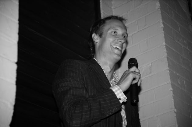 Jules Hall at the launch part of The Hallway at Tank Stream Bar in 2007