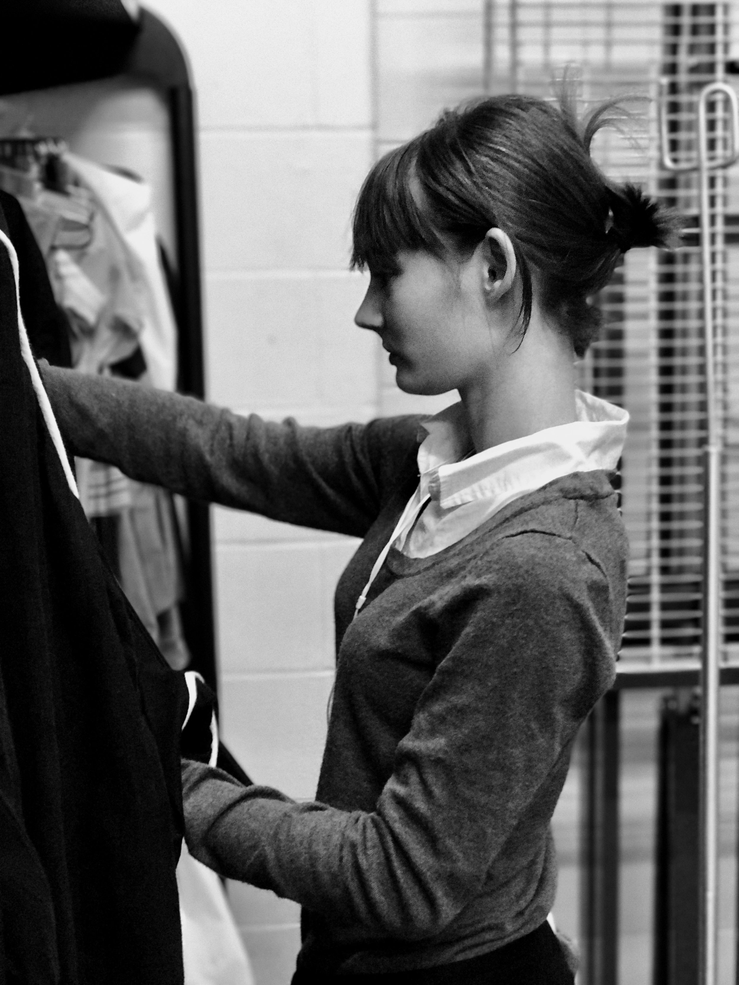 Backstage in the Costume Shop.