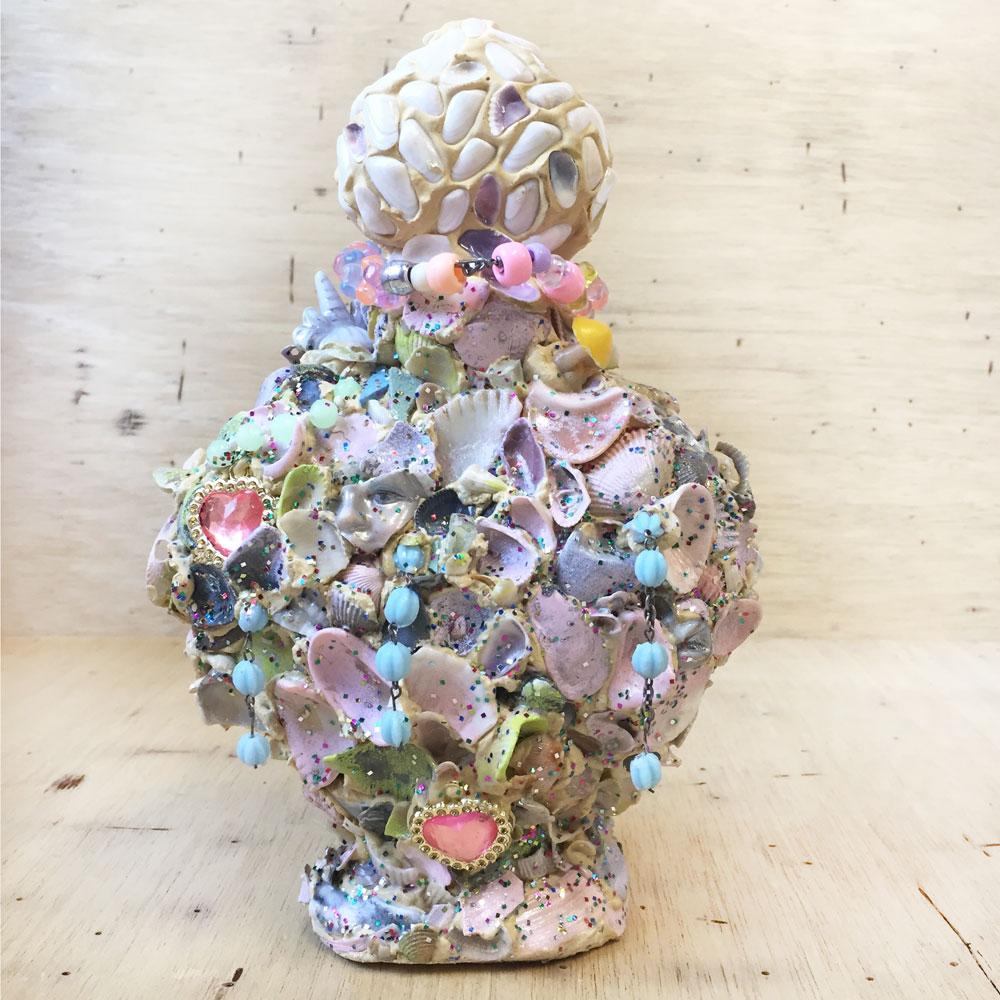 Shattered Heart of Jesus (memory jug), 2018.
