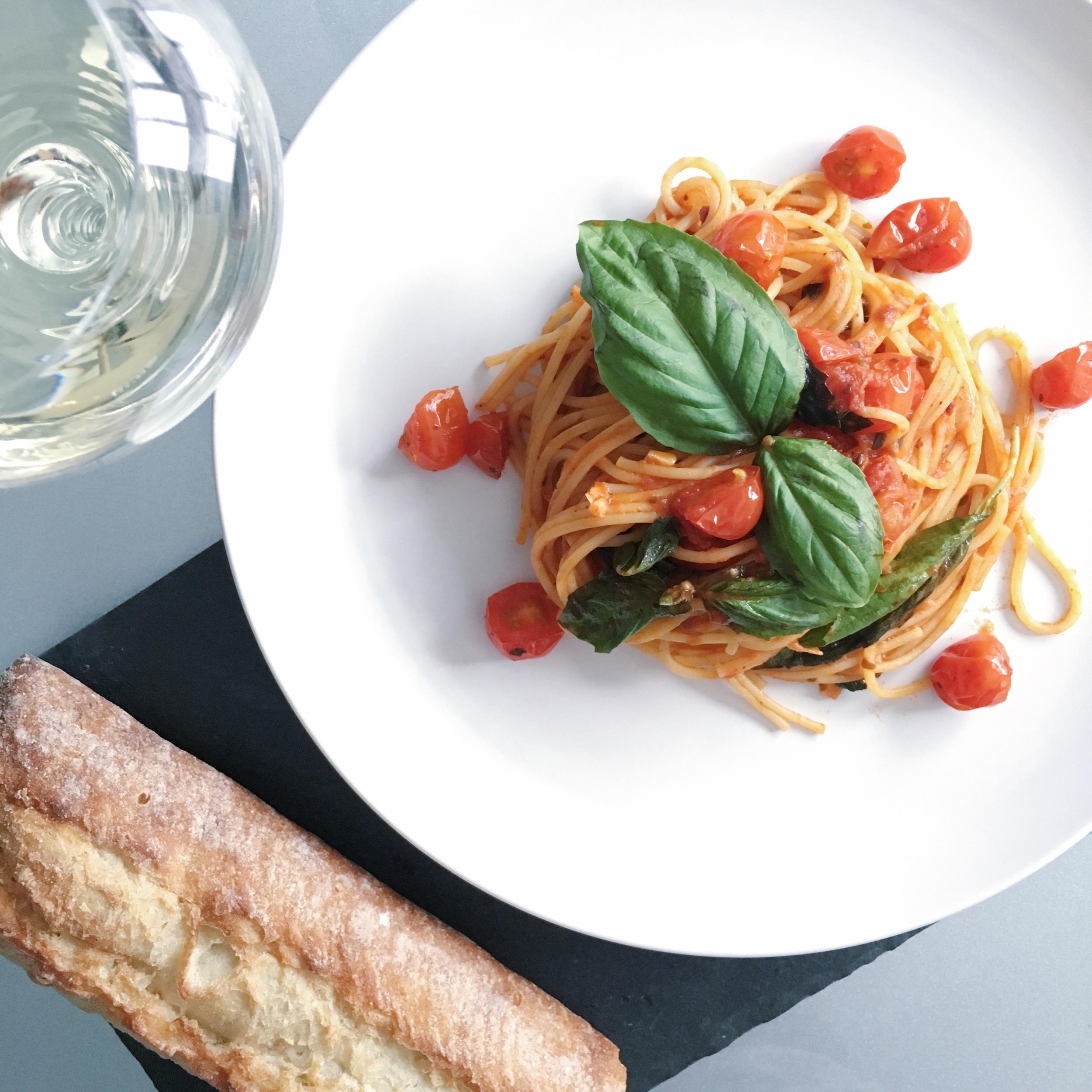 Tomato Basil Spaghettini Pasta