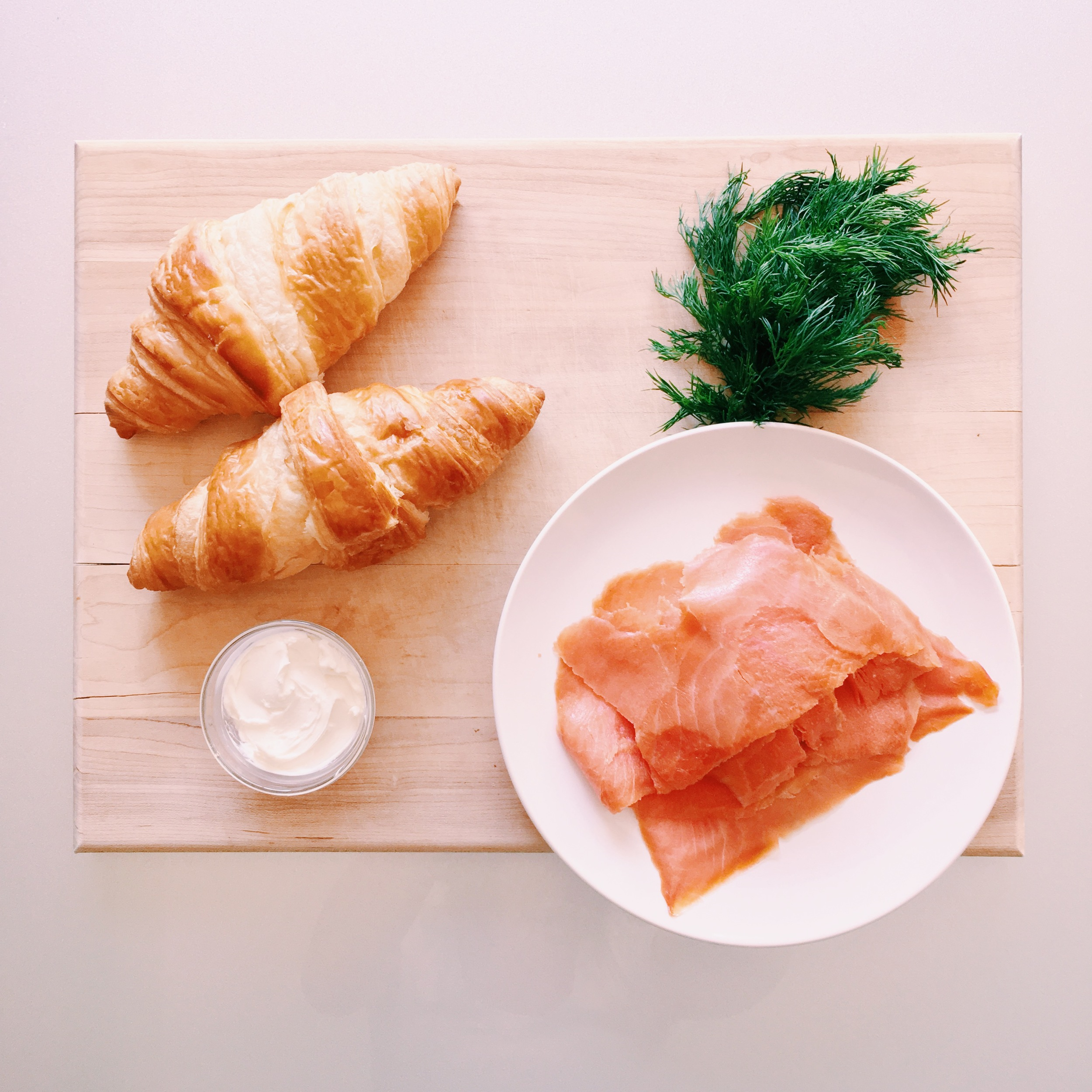 Smoked Salmon Cream Cheese Croissant