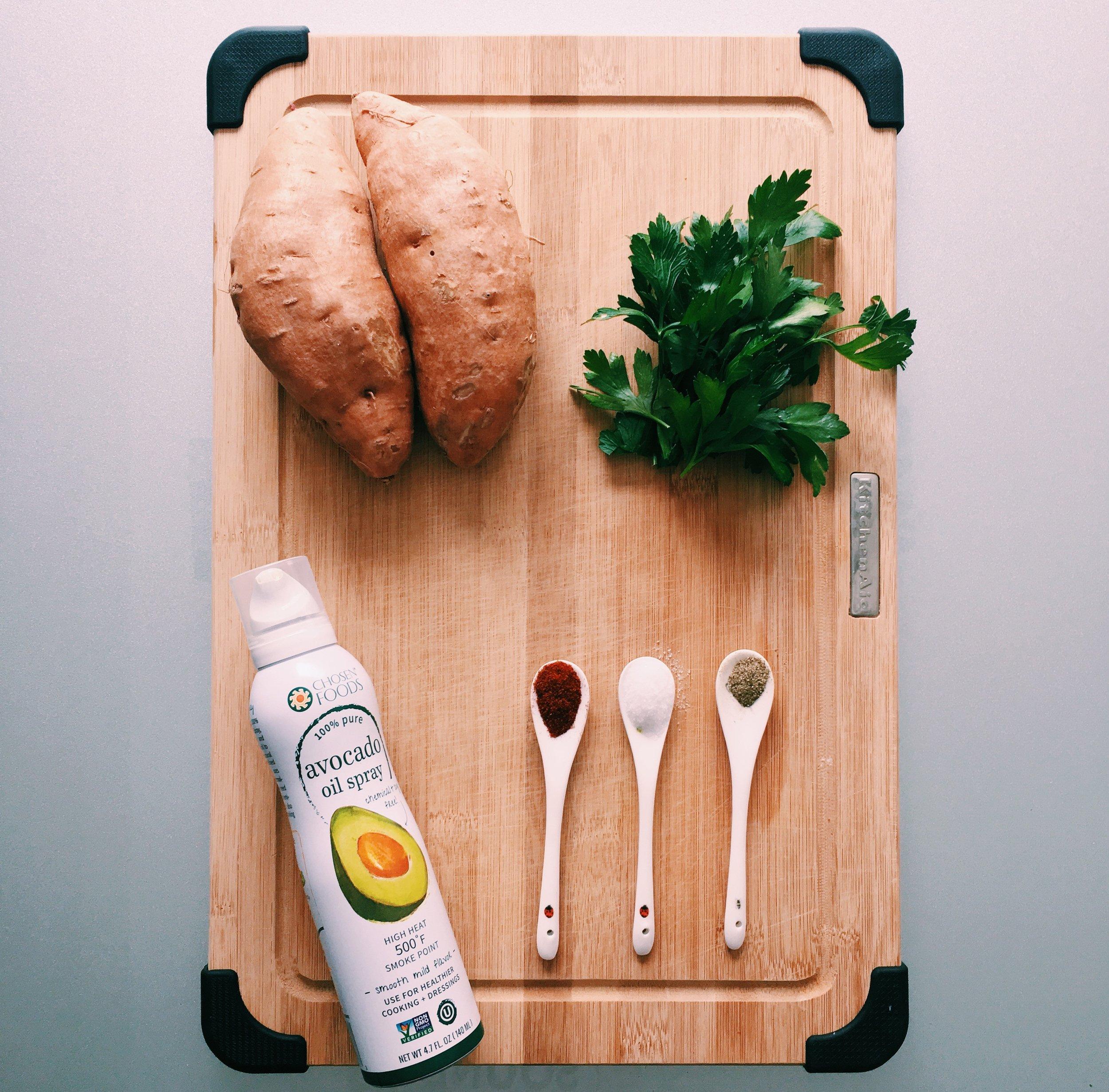 Baked Sweet Potato Fries ingredients