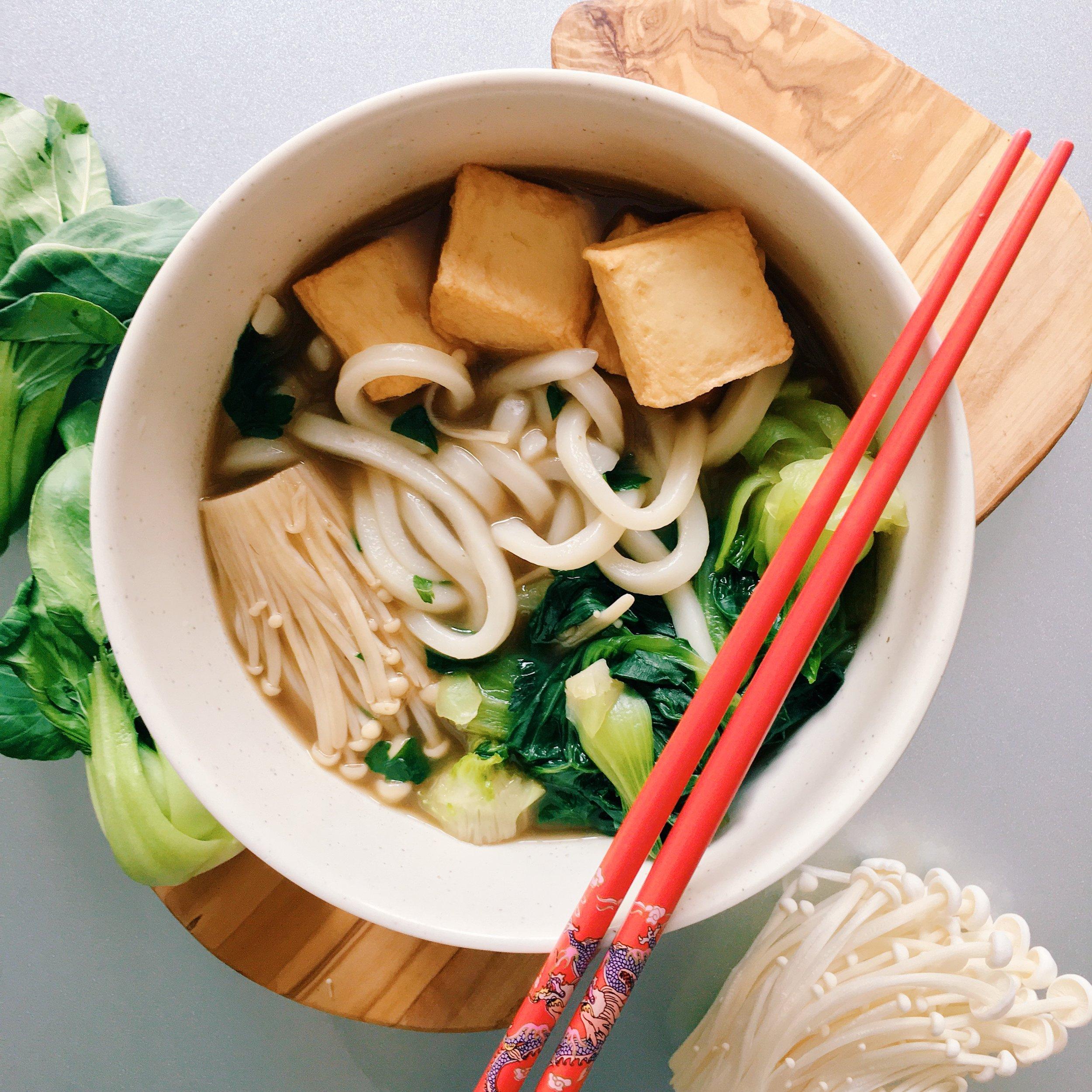 mushroom broth udon