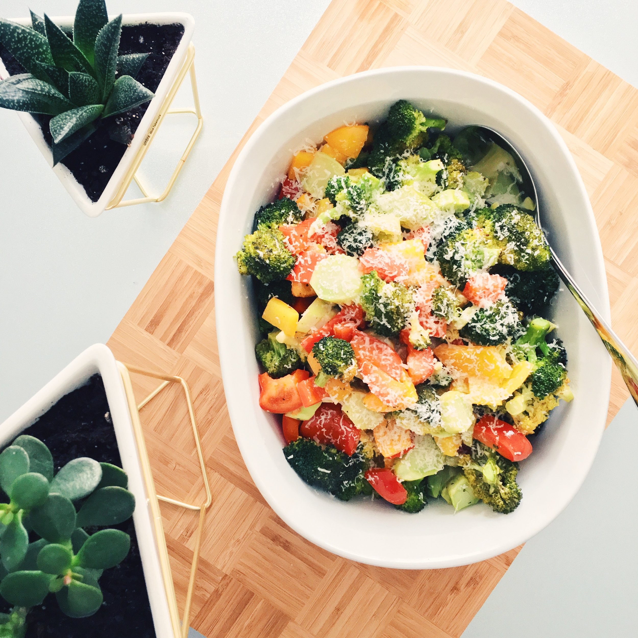 Roasted Broccoli & Peppers