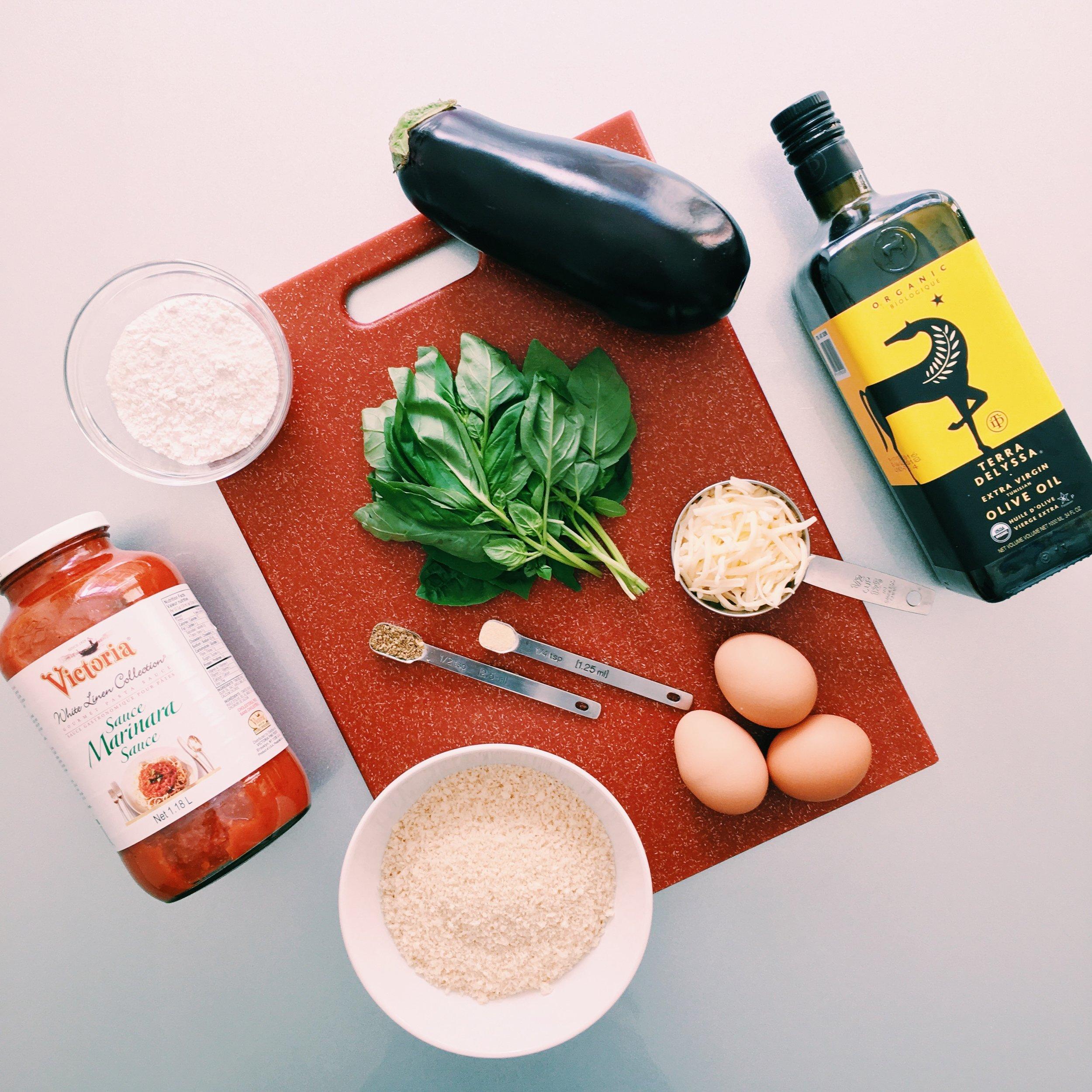 Eggplant Mozzarella ingredients