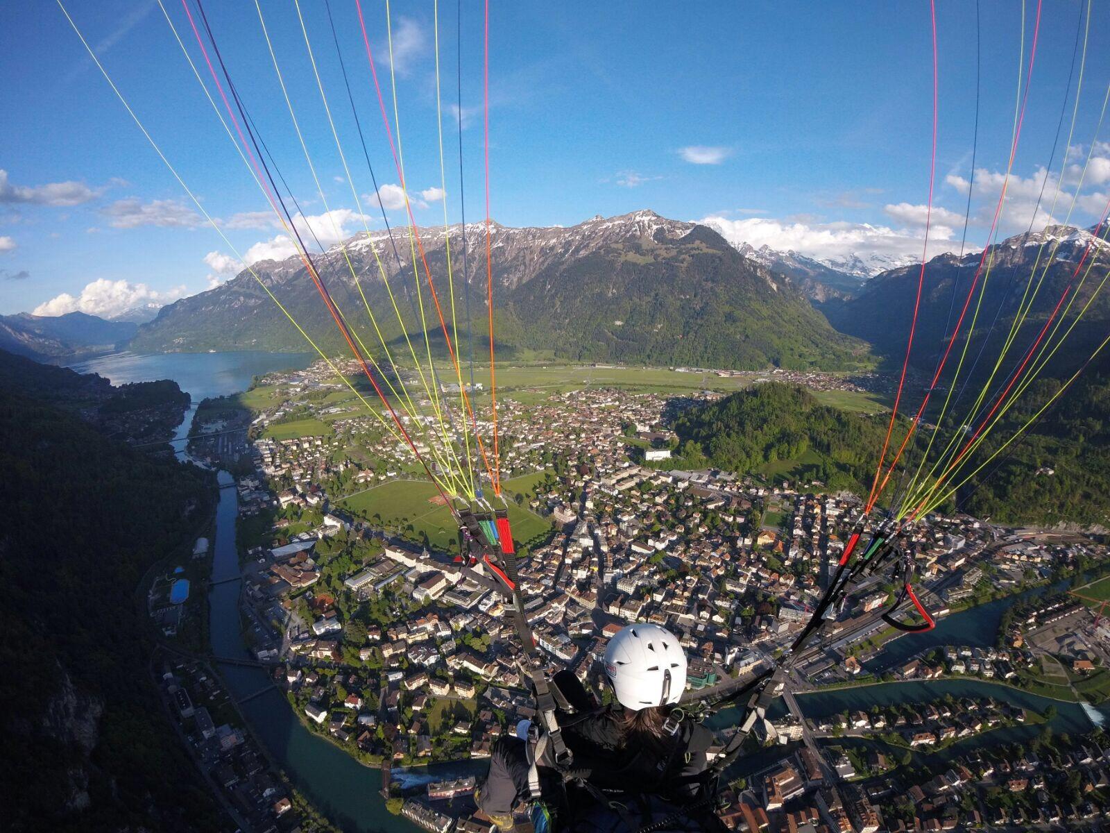 Paragliding above Interlaken