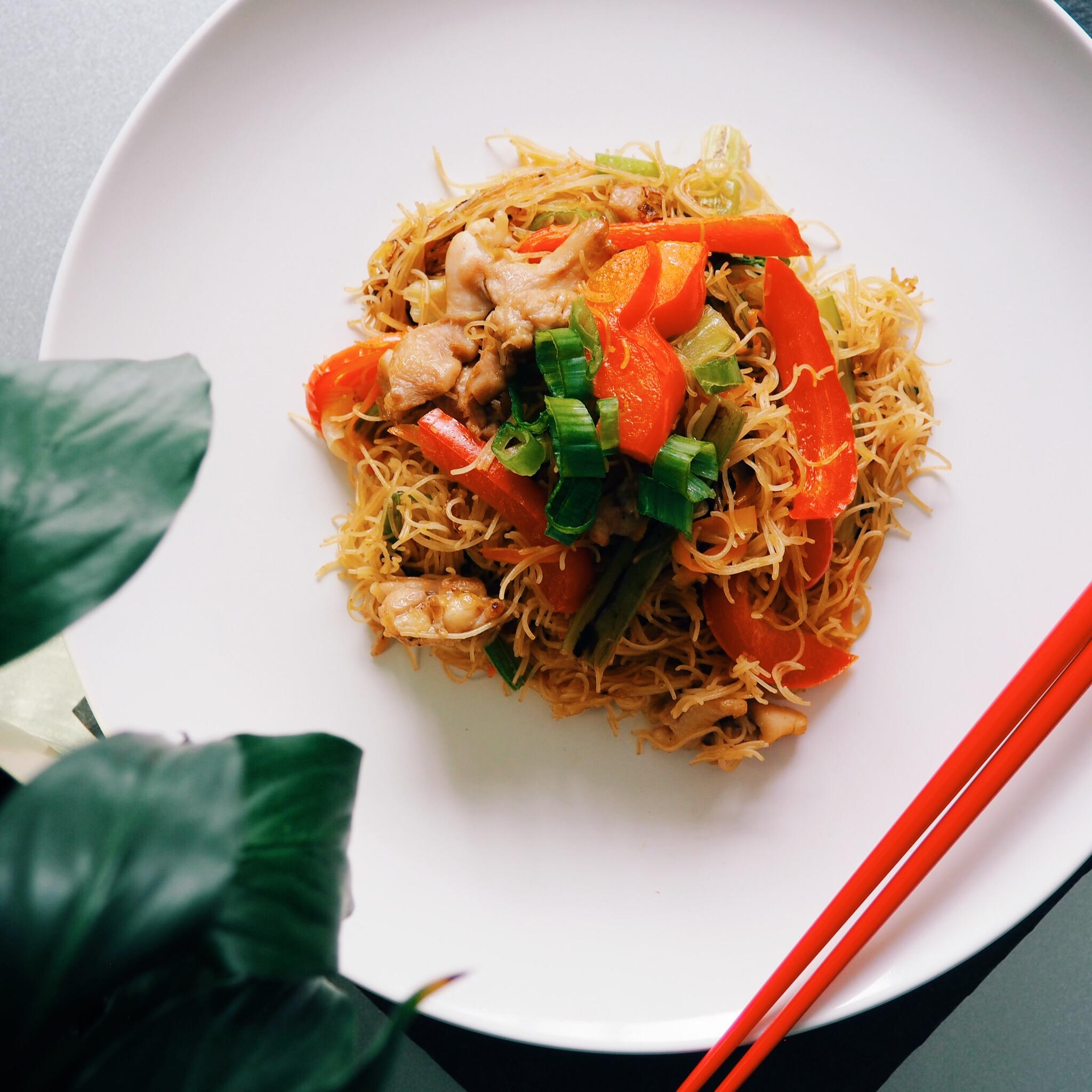 Vegetable Chicken Vermicelli