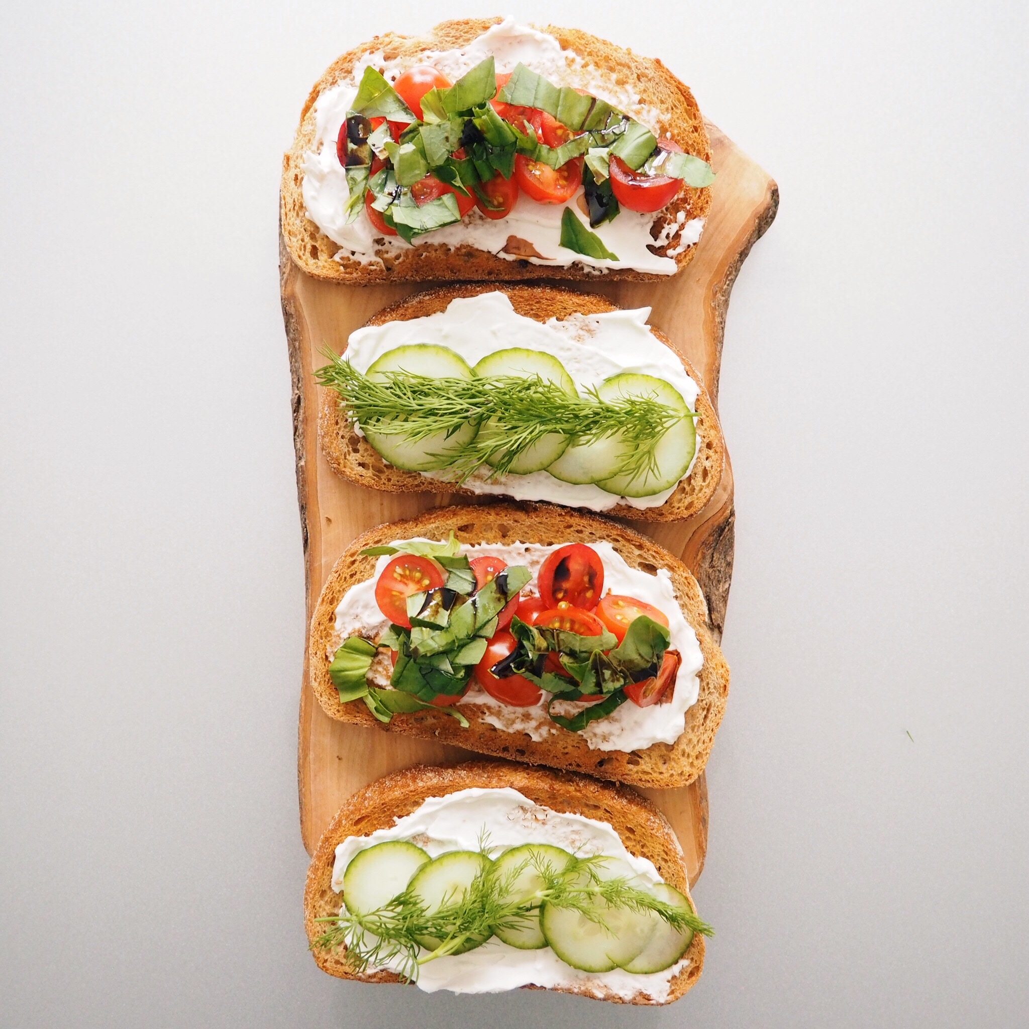 dill cucumber toast