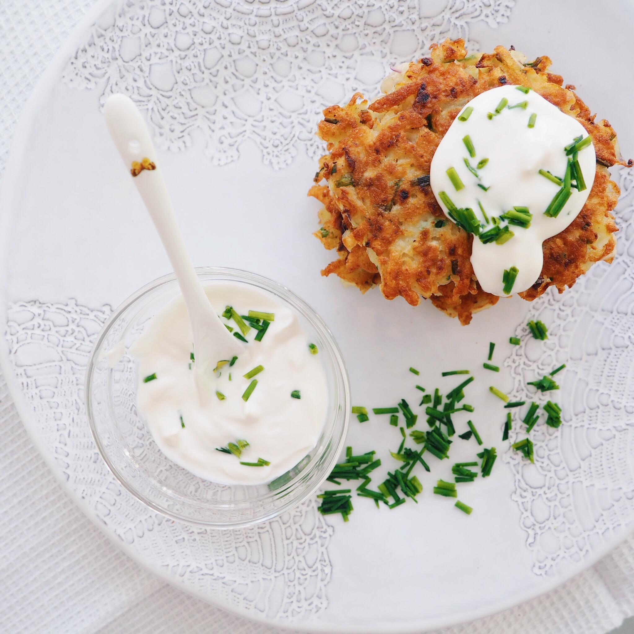 Chive Potato Latke