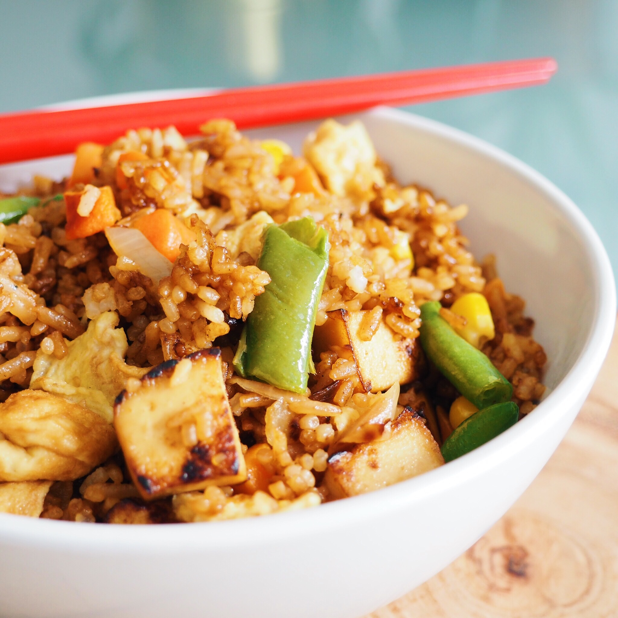 Egg Tofu Fried Rice