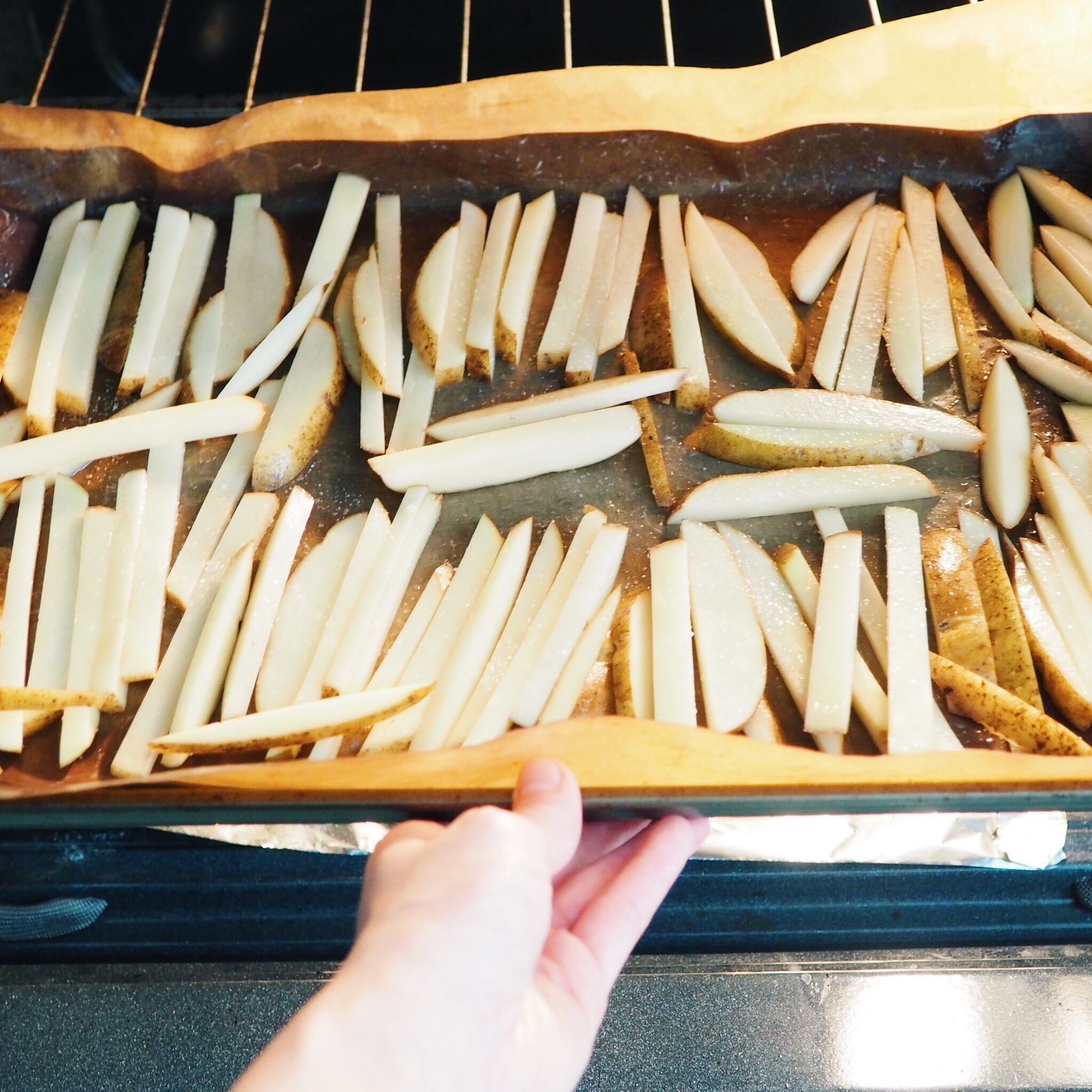 Step 7 - Bake fries for 35-40 minutes at 425 degrees F.