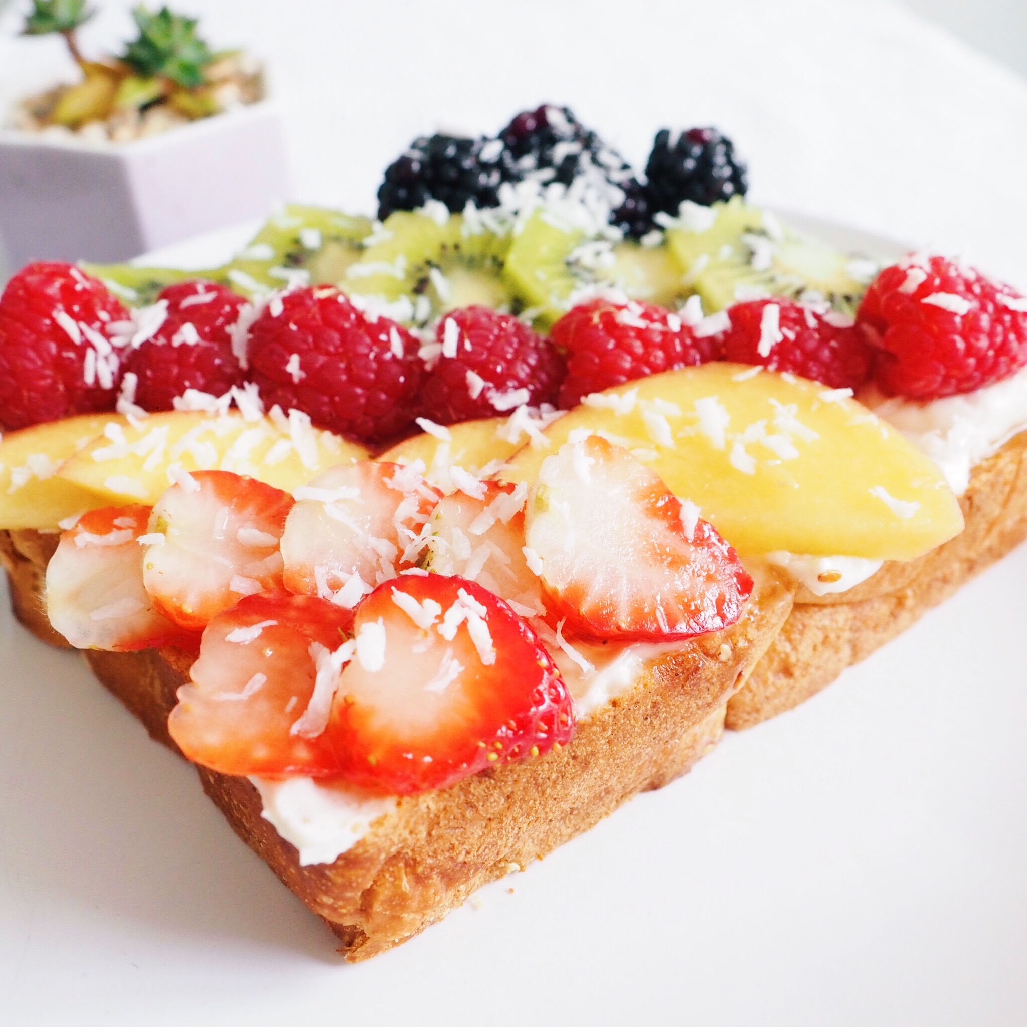 Vegan Mascarpone Fruit Toast
