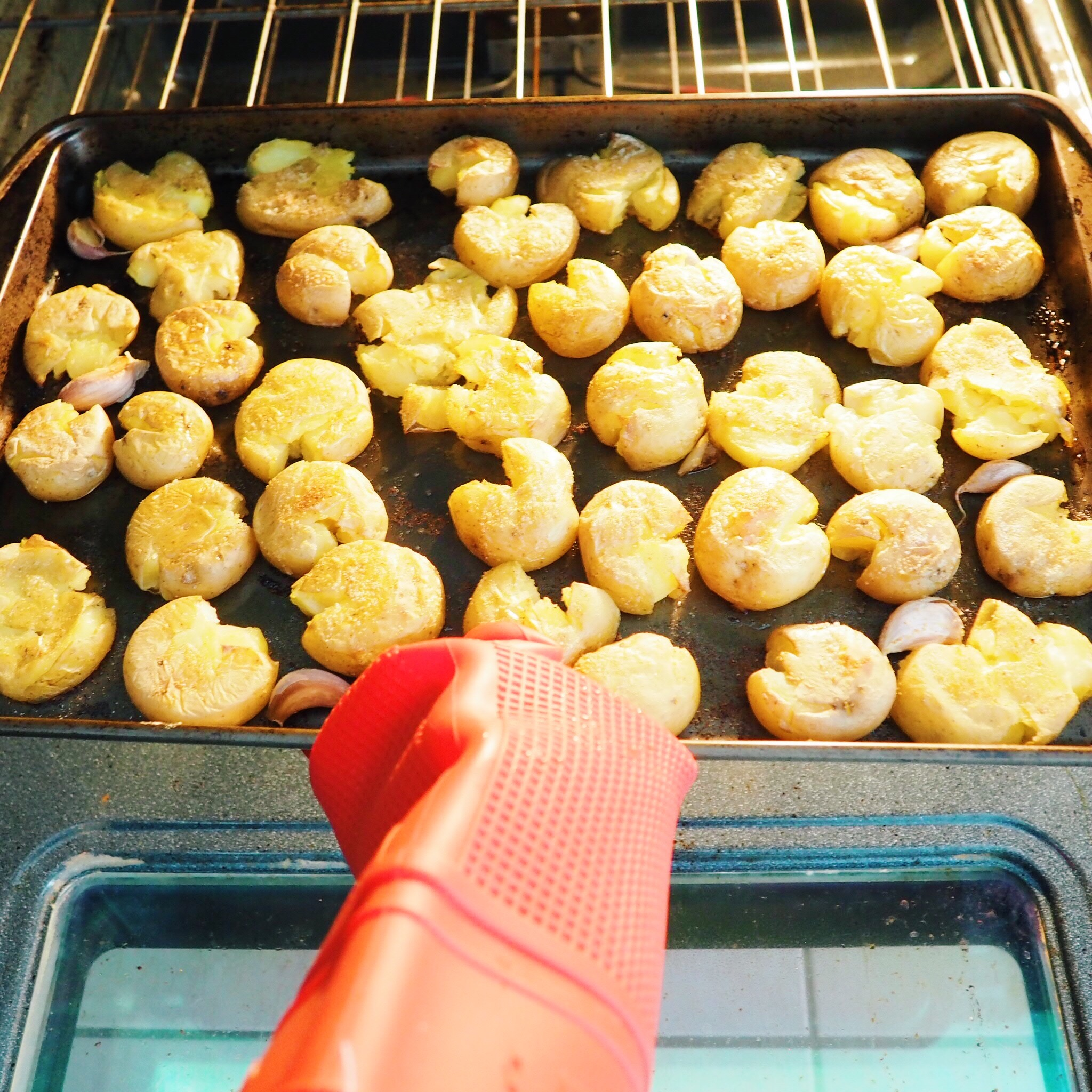 remove them from oven