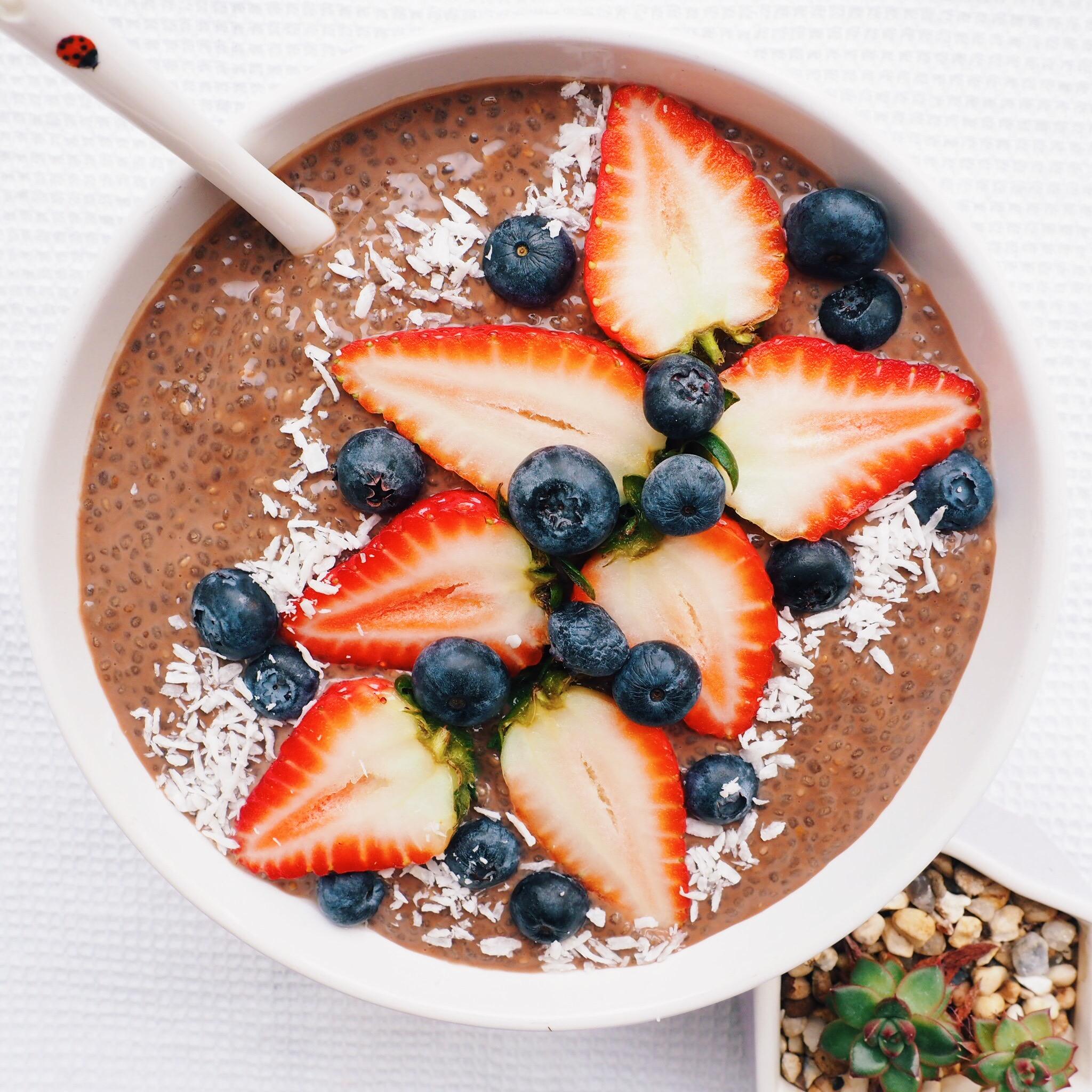 Vegan Chocolate Chia Pudding