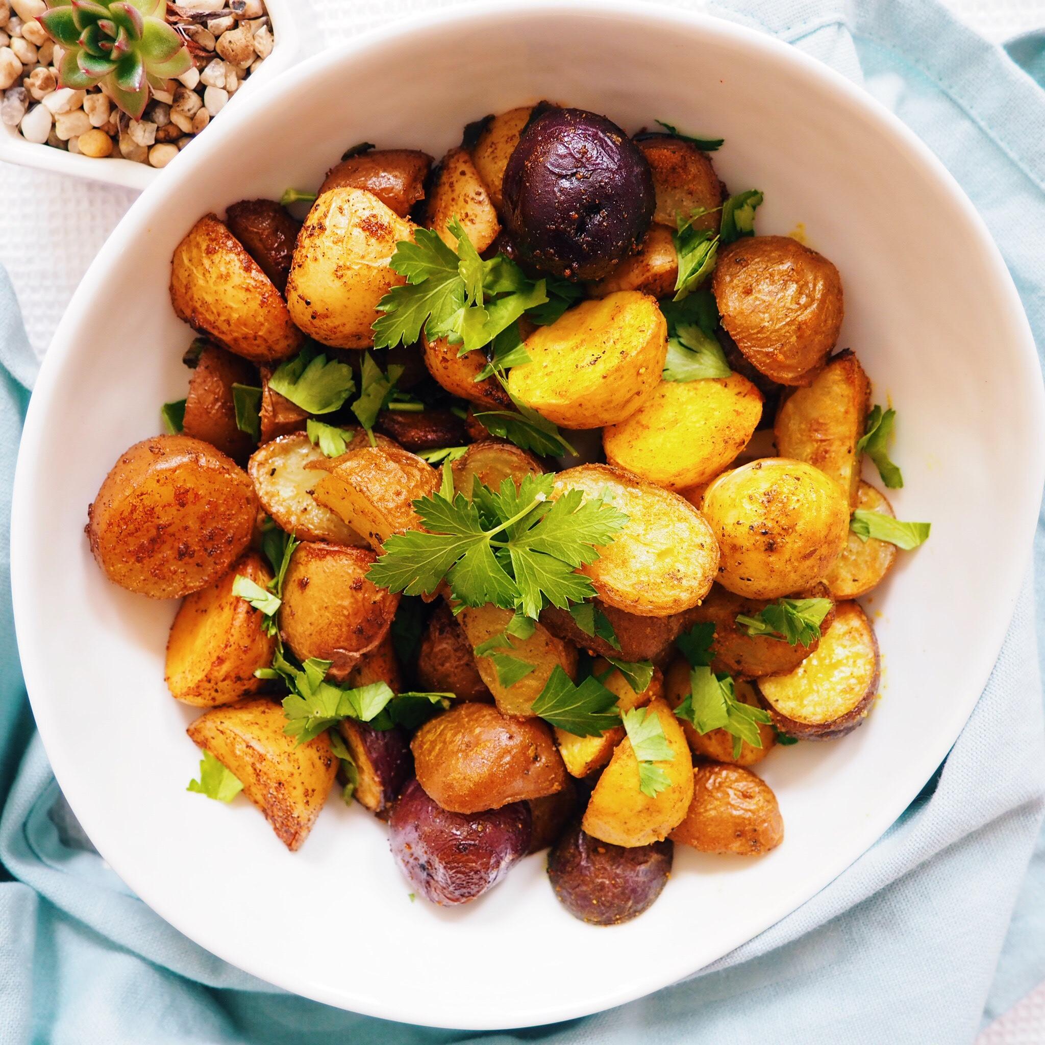 Paprika Roasted Baby Potatoes