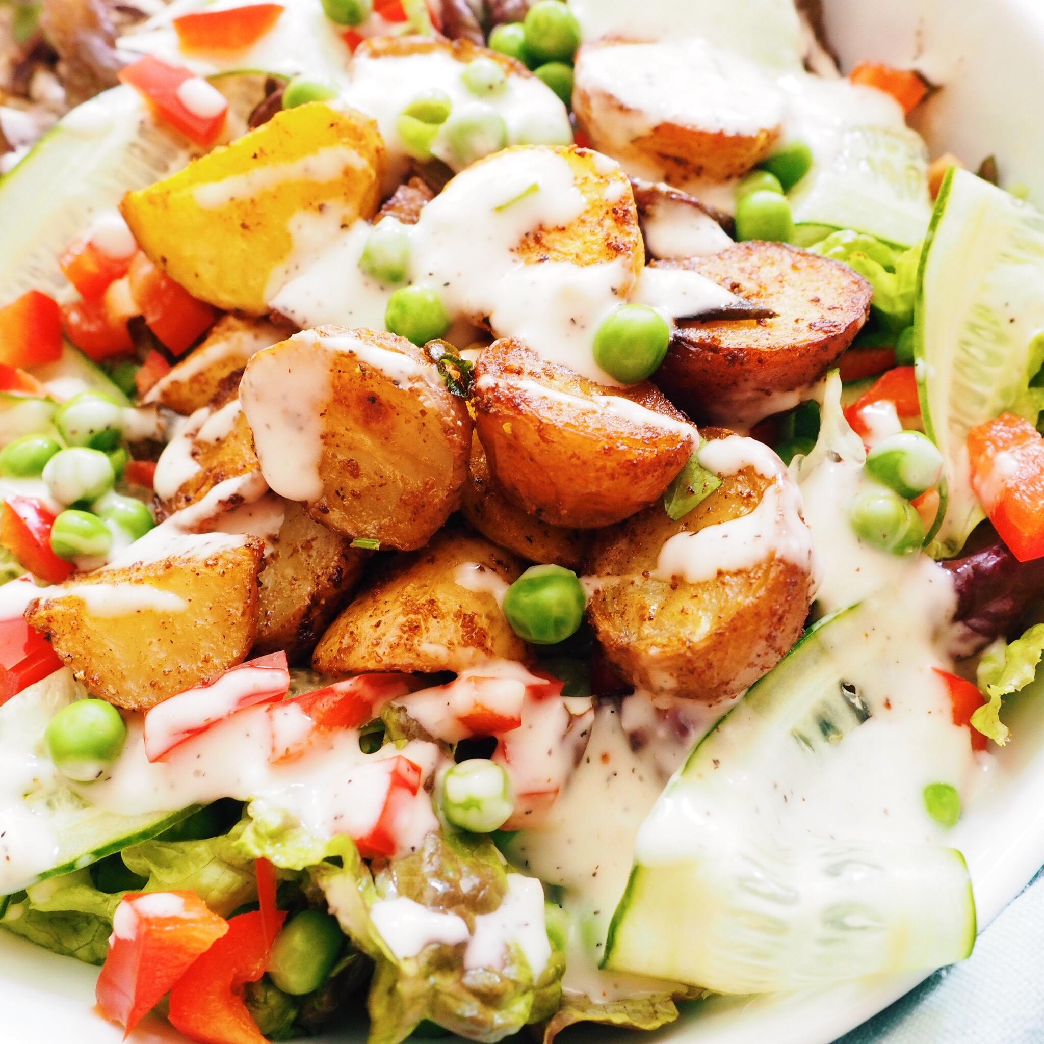 Roasted Potato Caesar Salad