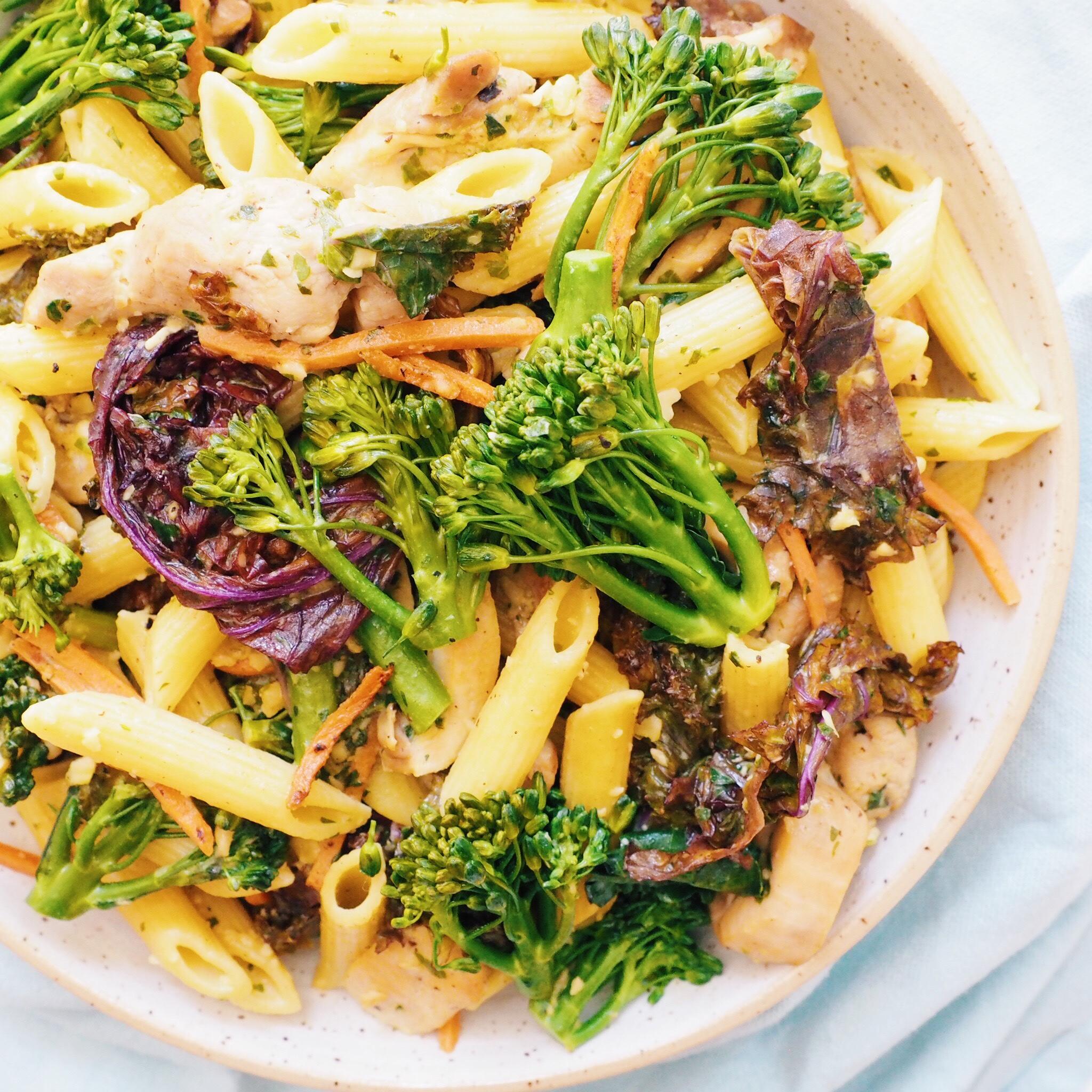 Pesto Vegetable Chicken Pasta