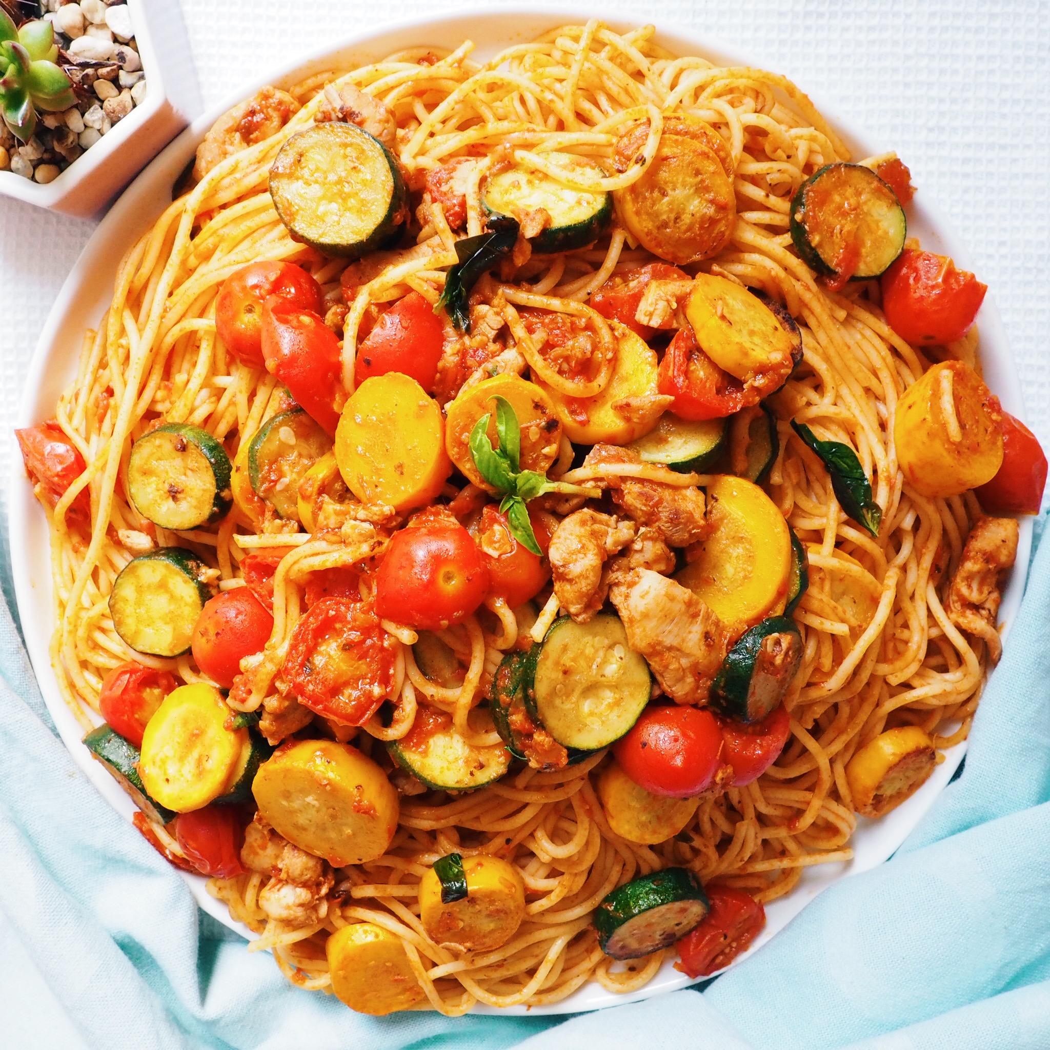 Chicken Tomato Zucchini Pasta