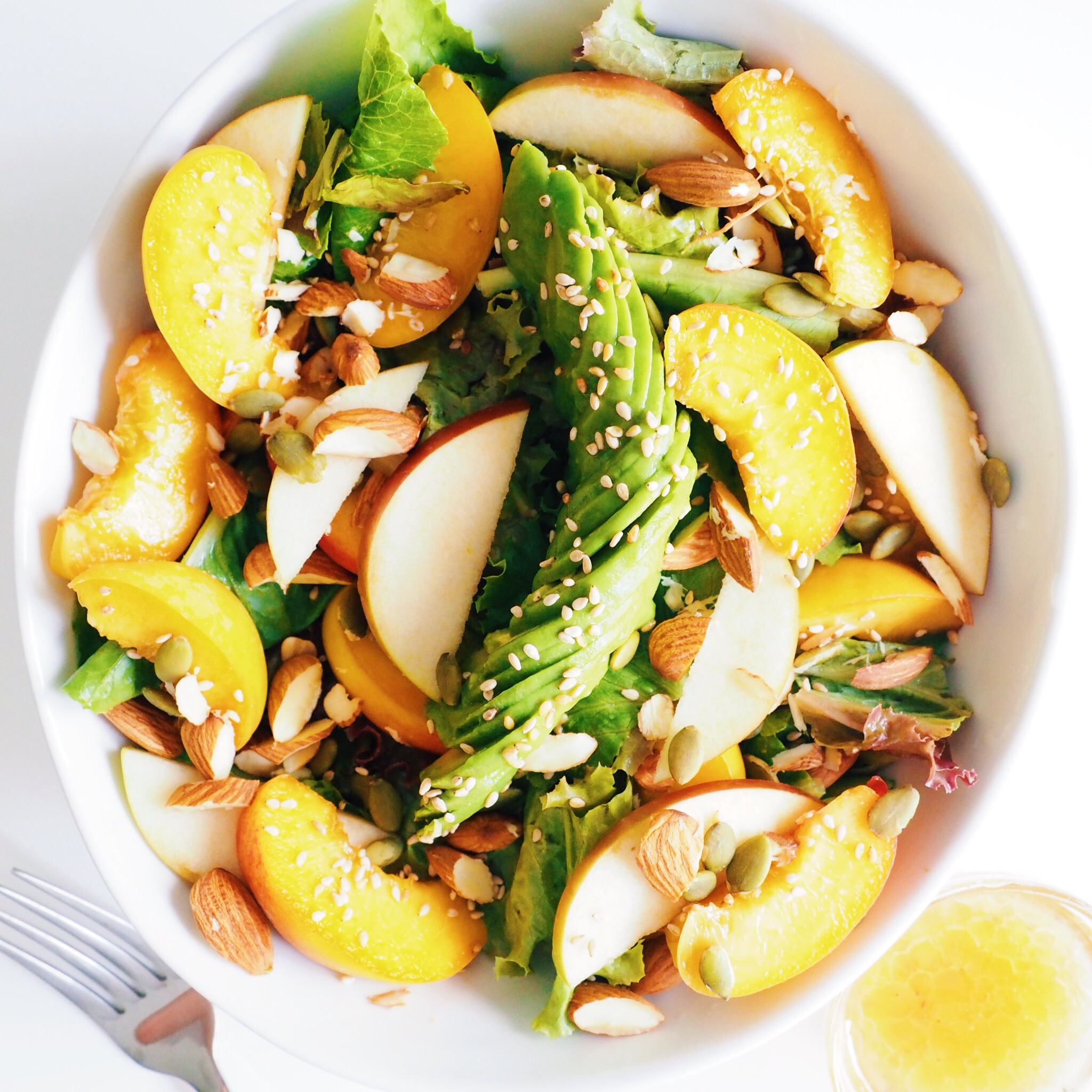 Sesame Peach Avocado Salad