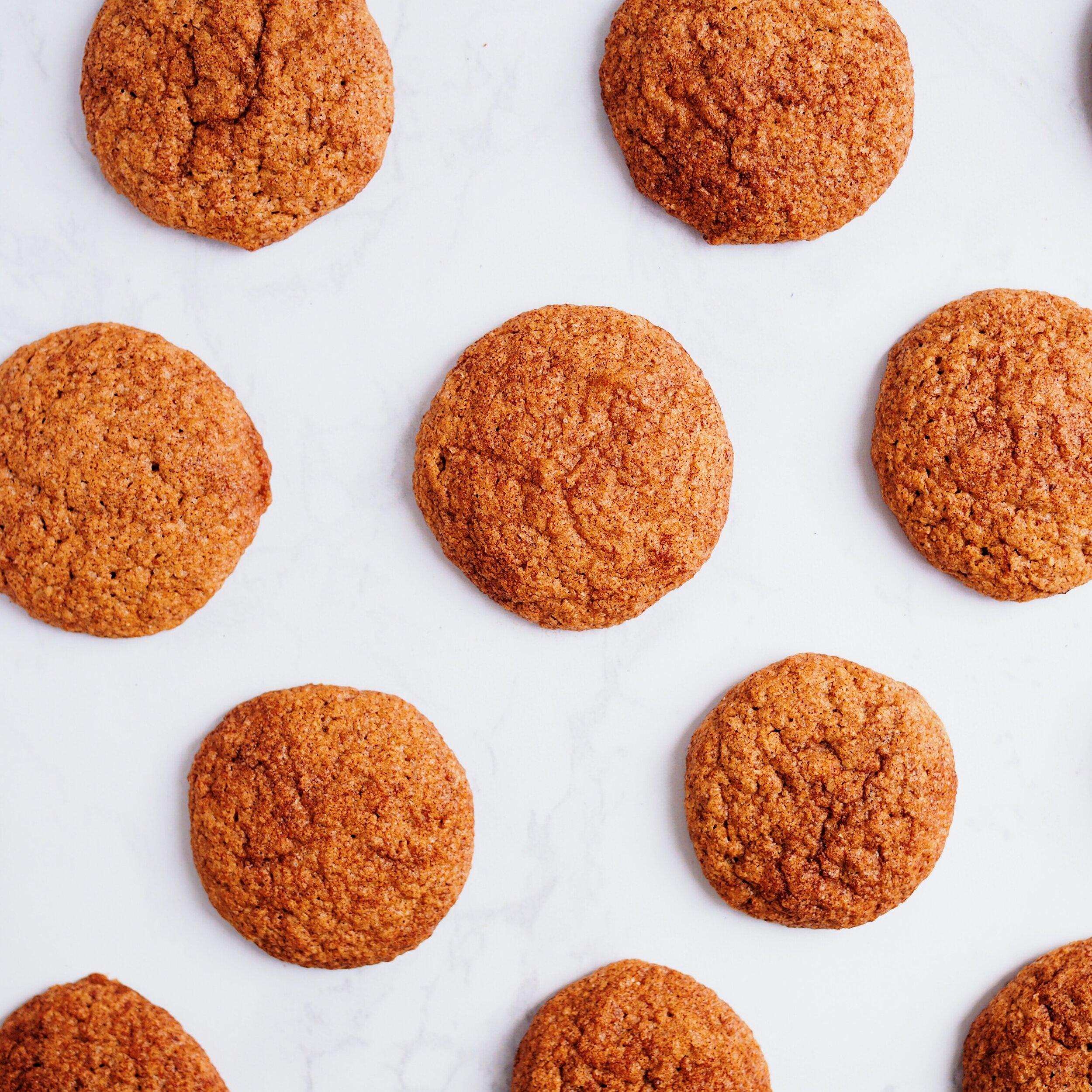 Vegan Cinnamon Oat Flour Cookies