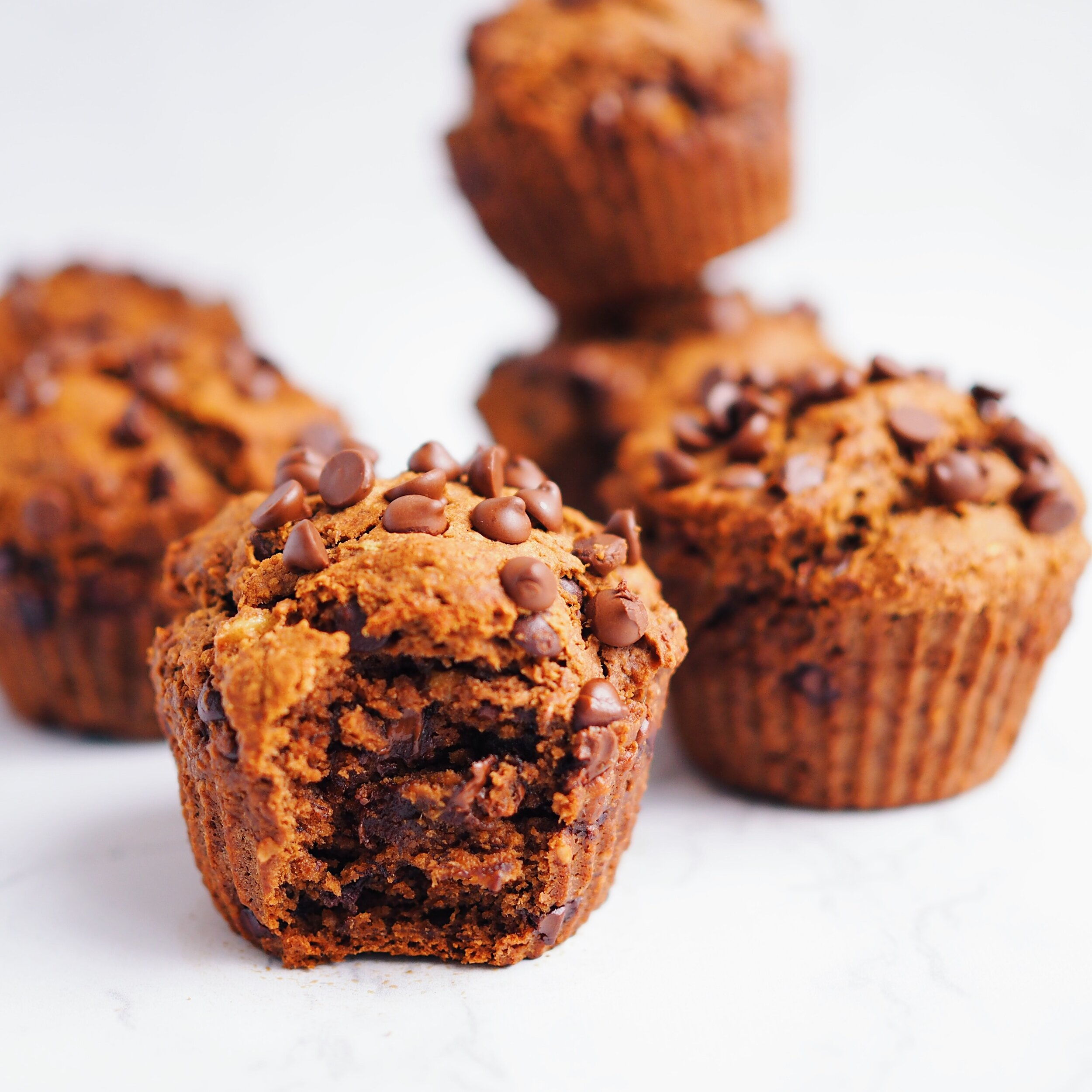Double Chocolate Avocado Banana Muffins