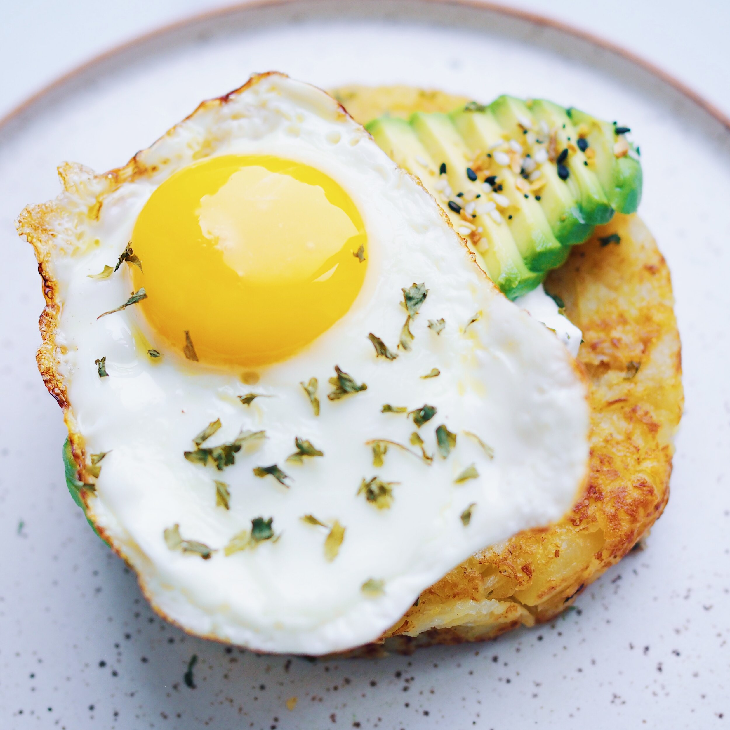 Potato Rosti with Fried Egg