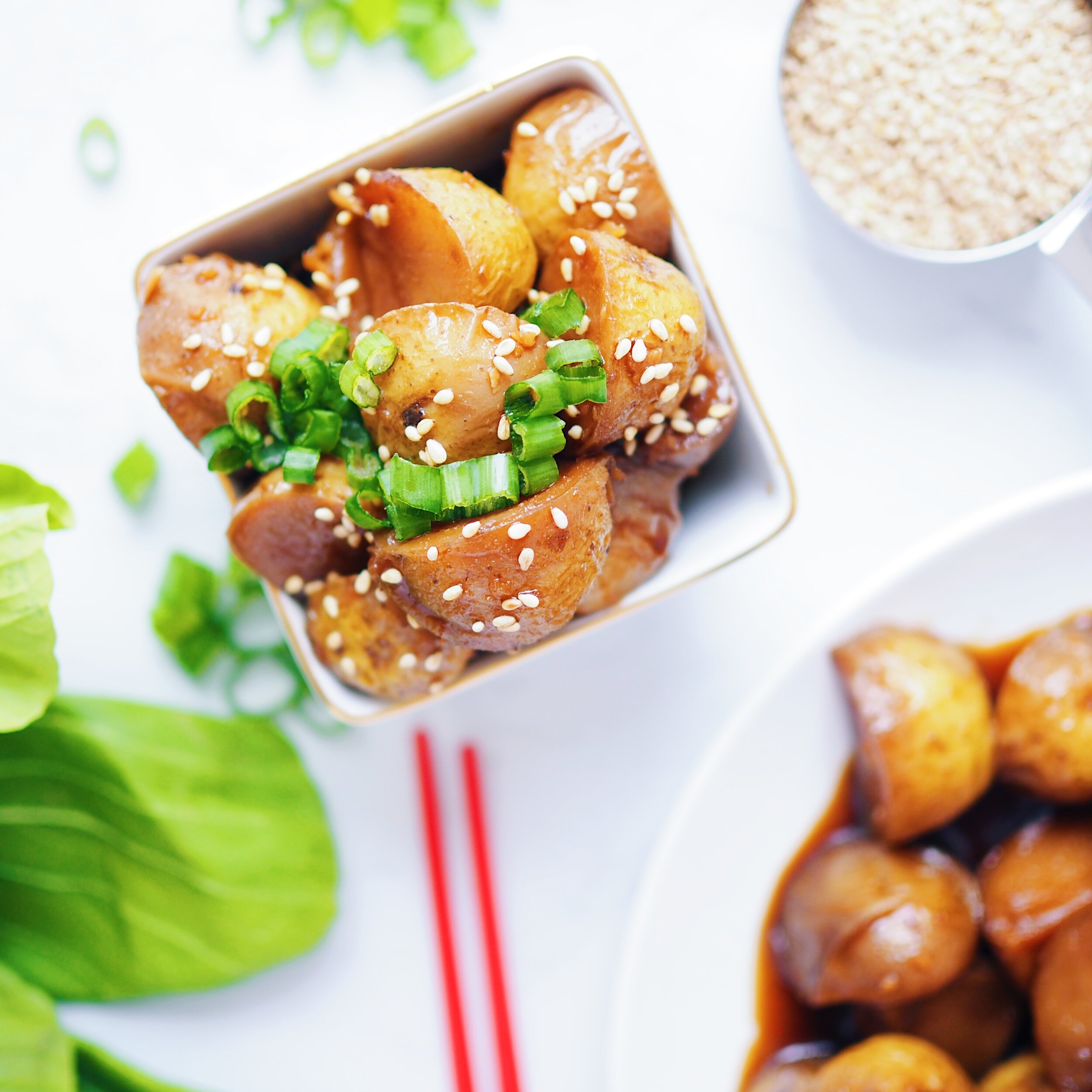 Vegan Korean Potatoes