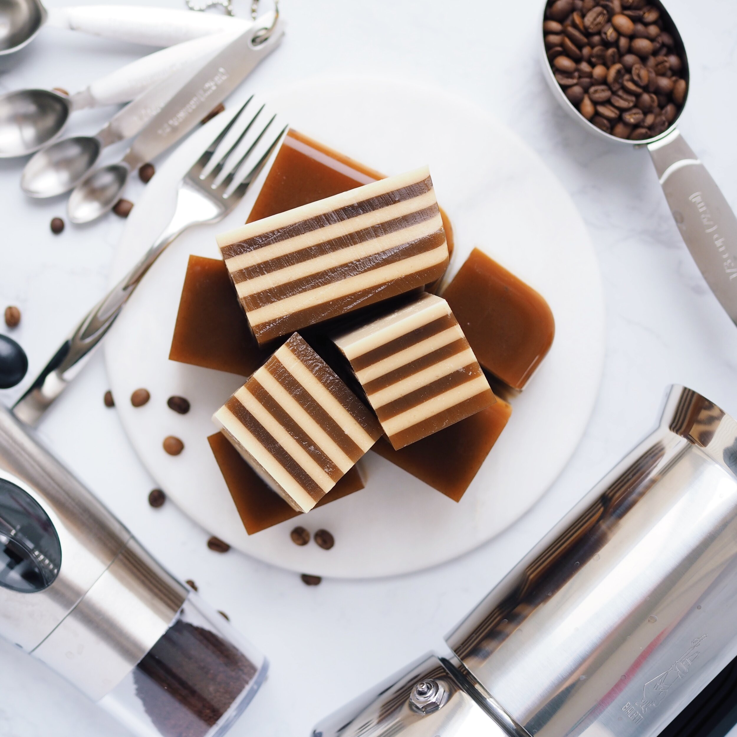 Vegan Coffee Coconut Jelly