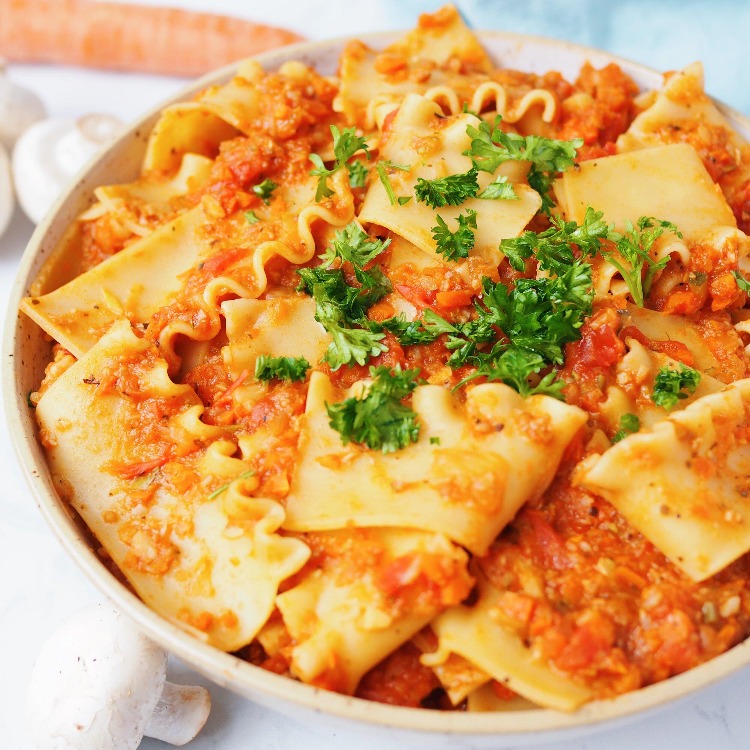 Sneaky Veggie Tomato Pasta