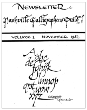 First Nashville Calligraphers Guild Newsletter, November 1982