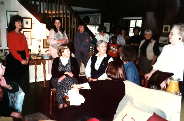 Fifteenth Anniversary celebration at Betty Gilpin's home.