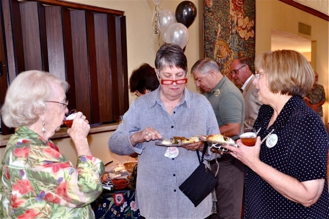 NCG 30th Anniversary. Betty Gilpin, Barb Bartels, and Carol Percy.