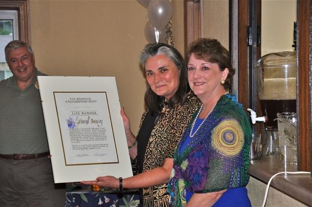 NCG 30th Anniversary. President Rose Wathen with Sheryl Bracey.