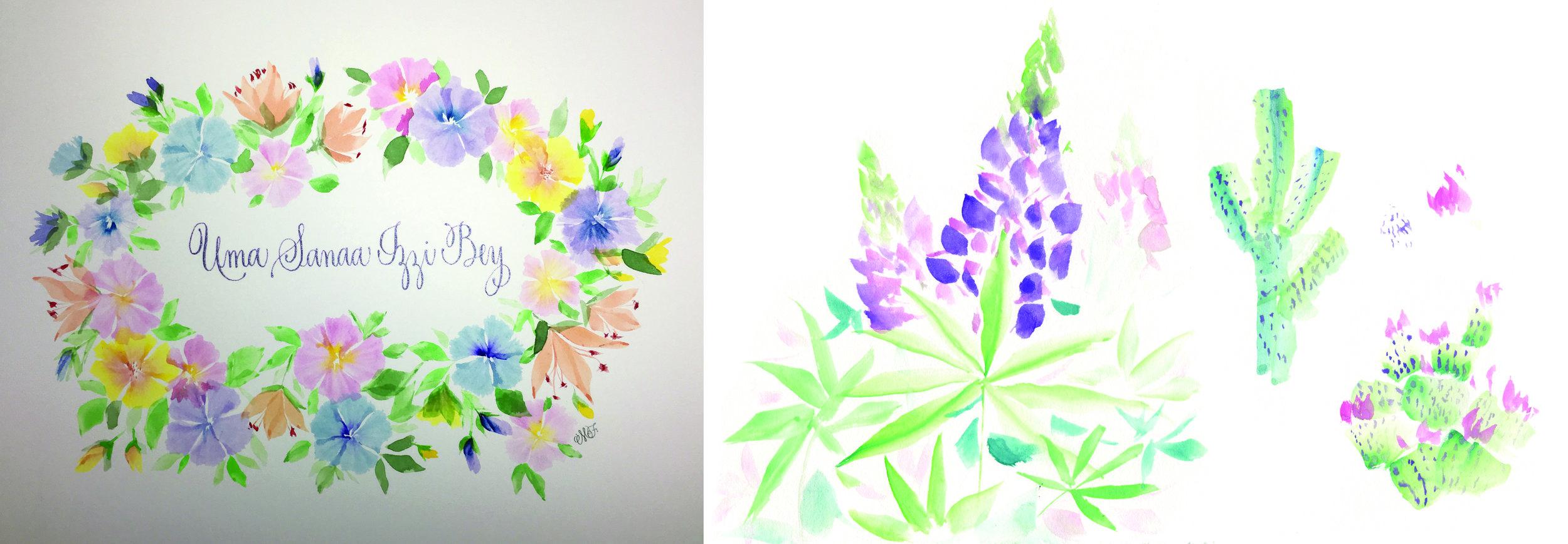 Lupine and Cactus Study