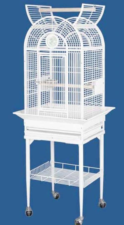Tall Bird Cage With Perch and Shelf | Bird Supplies Mineola