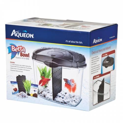 Aqueon Betta Bowl With Divider | Betta Fish Tank | Betta Fish Tank Mineola