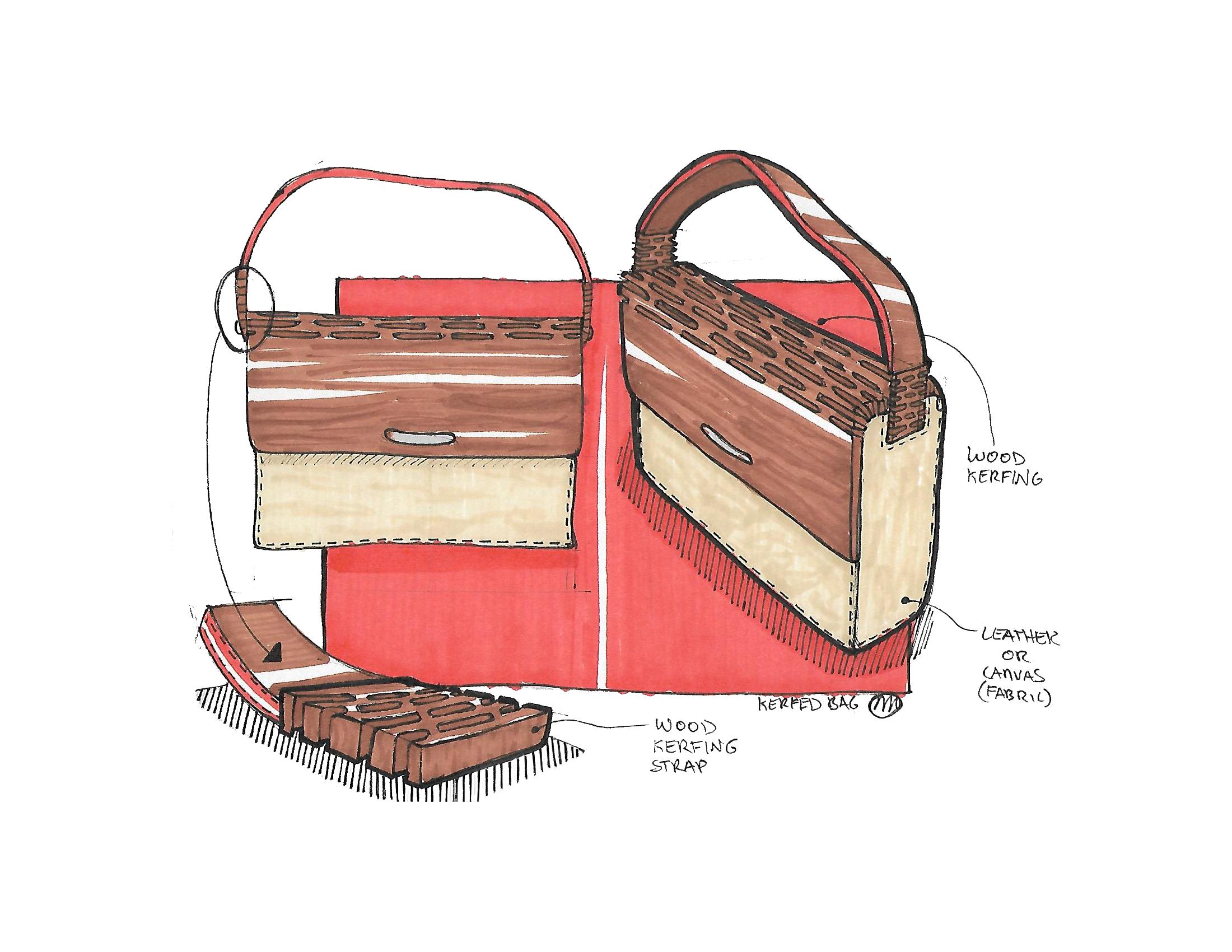 Kerfed Messenger Bag Concept