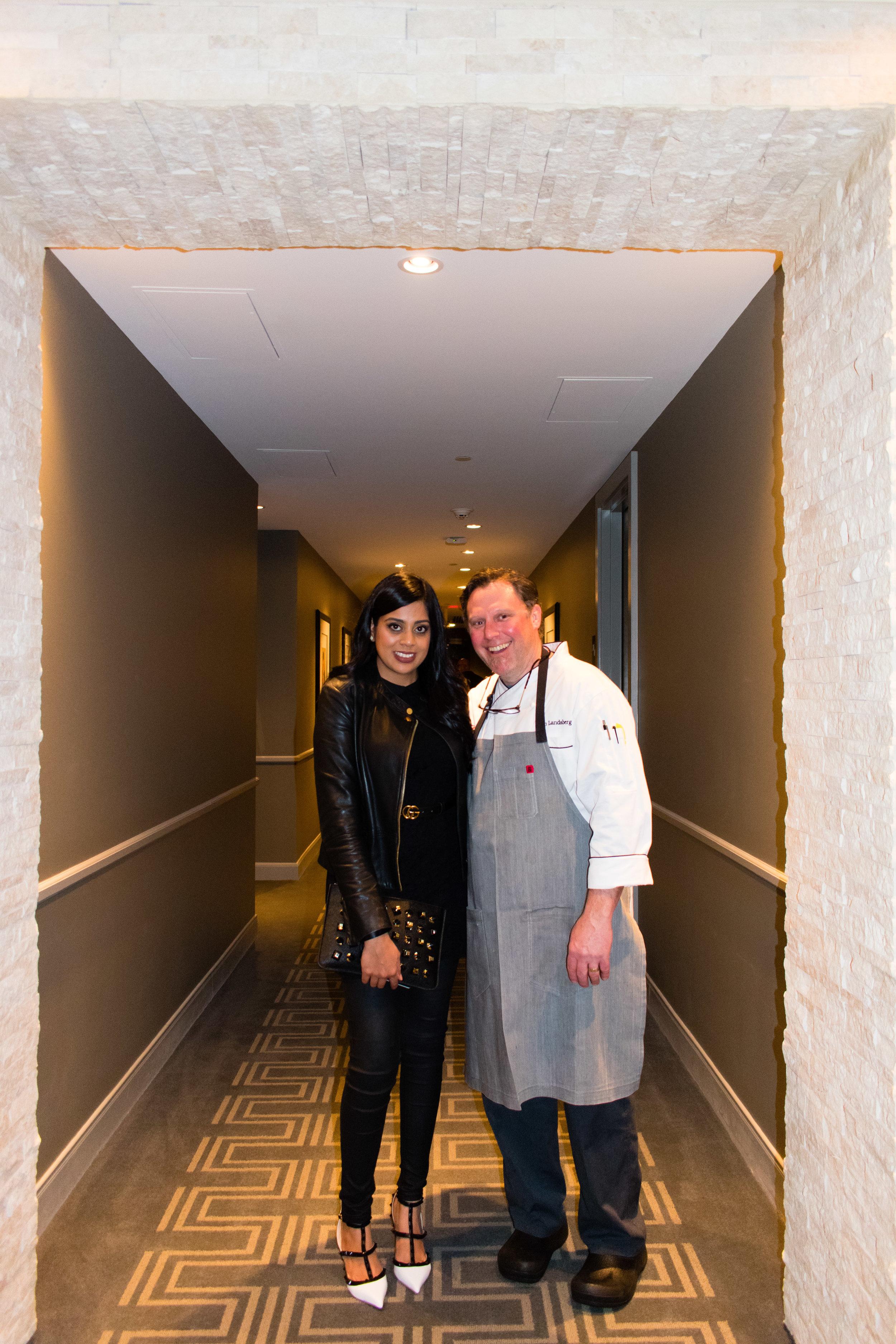 Yasmeen Tadia with Dan Lansburg - Hotel ZAZA Grand Opening