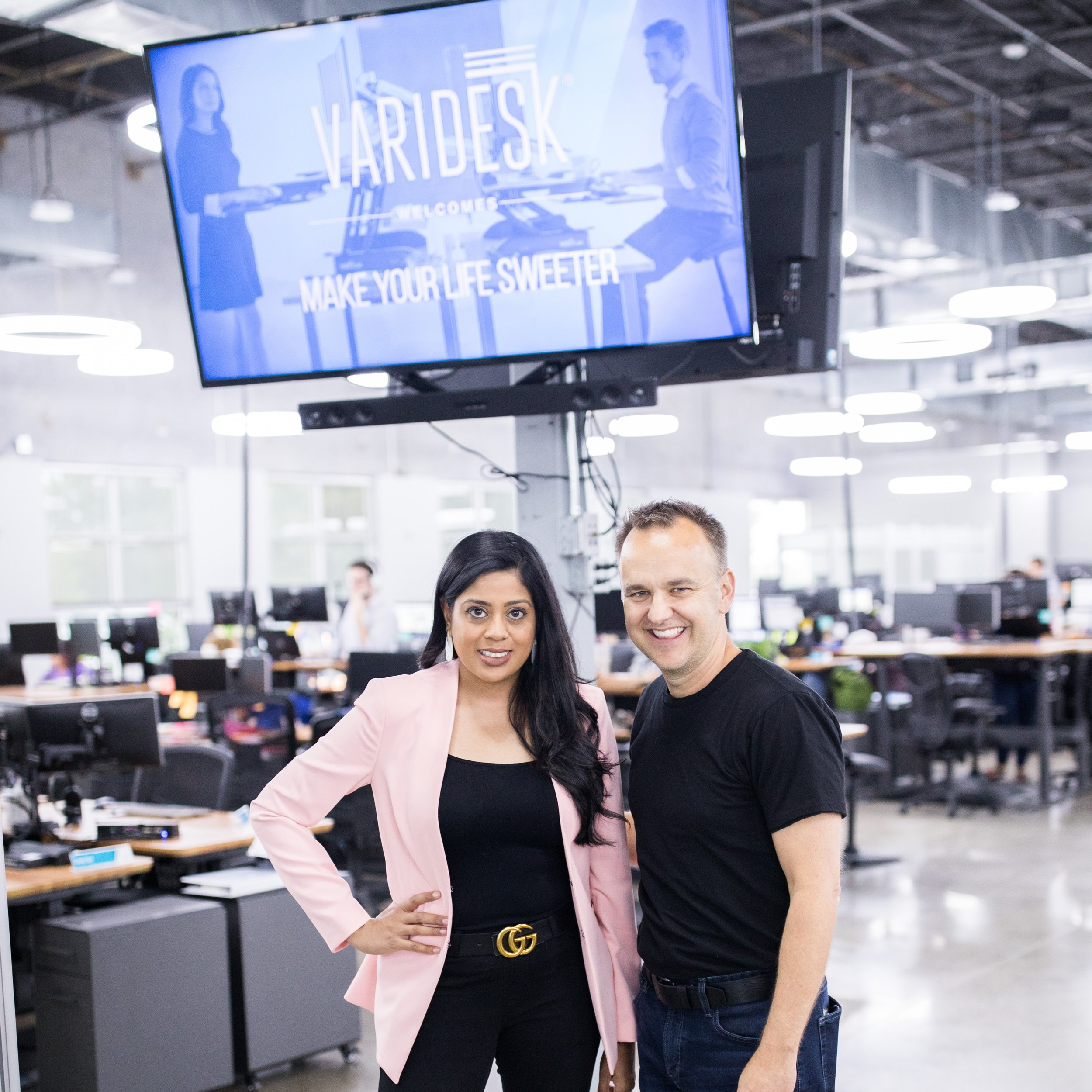 Yasmeen Tadia CEO of Make Your Life Sweeter with Jason McCann CEO of Varidesk