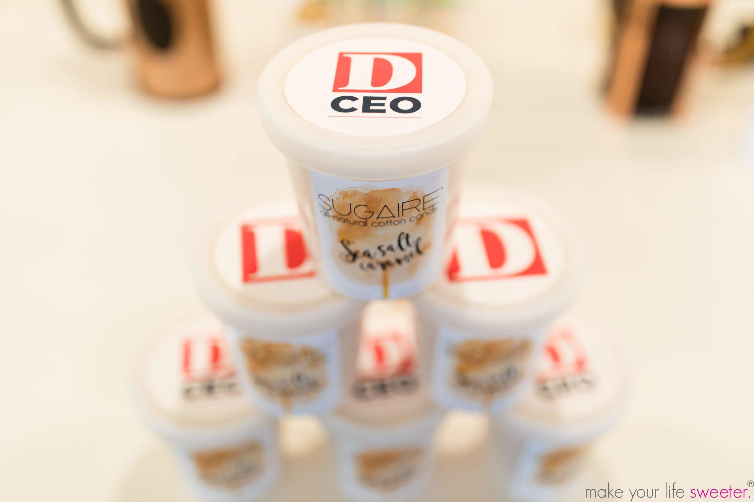 Sugaire Organic Sea Salt Caramel Customized Cotton Candy