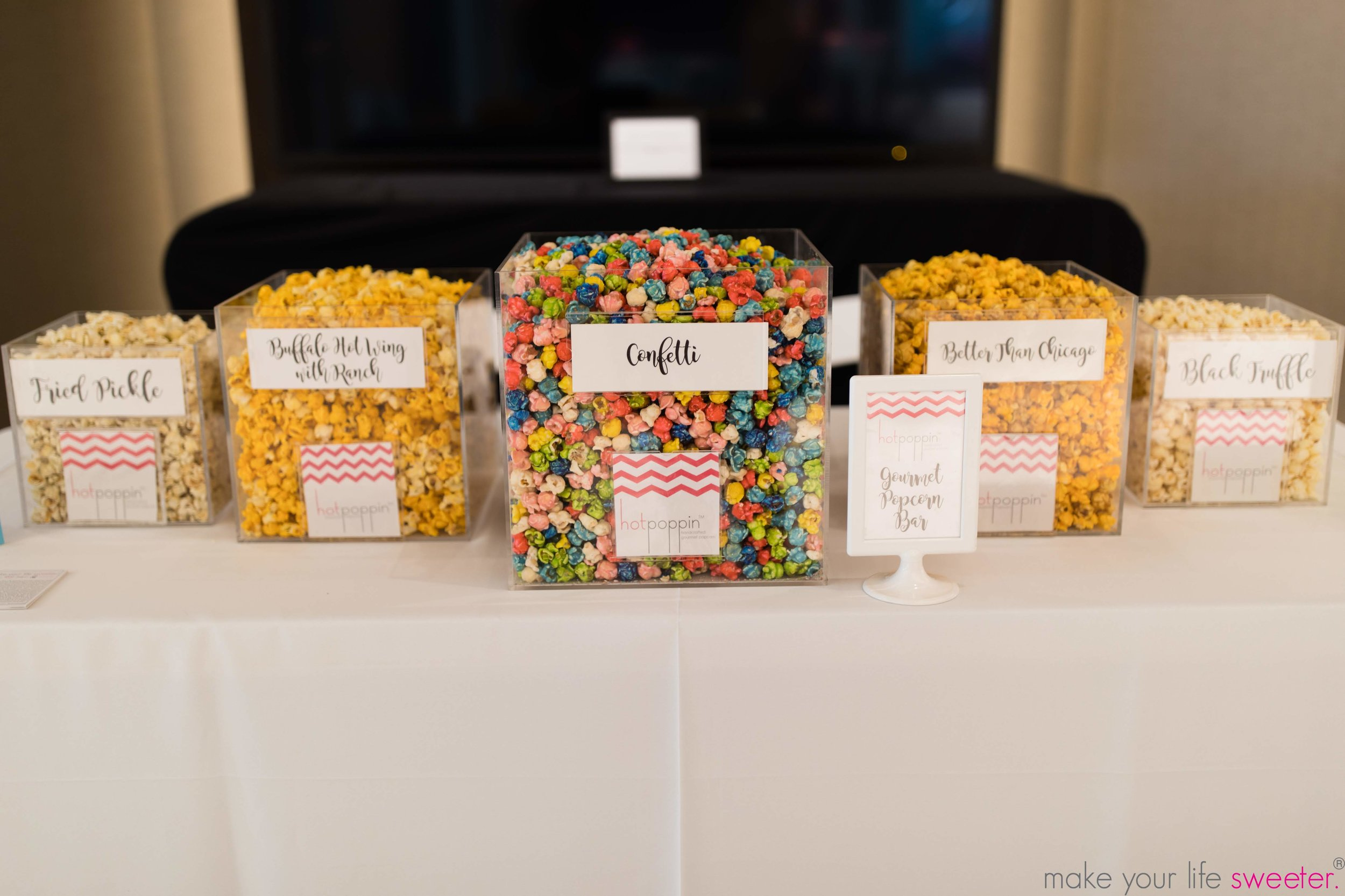 Hotpoppin Gourmet Popcorn Bar - DFW Child Mom Party at the Lincoln Experience Center